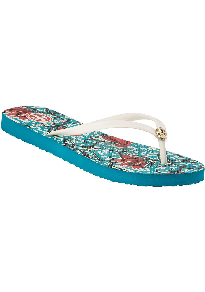 a2a3954273e30 Lyst - Tory Burch Thin Flip Flop Batik Floral in White for Men