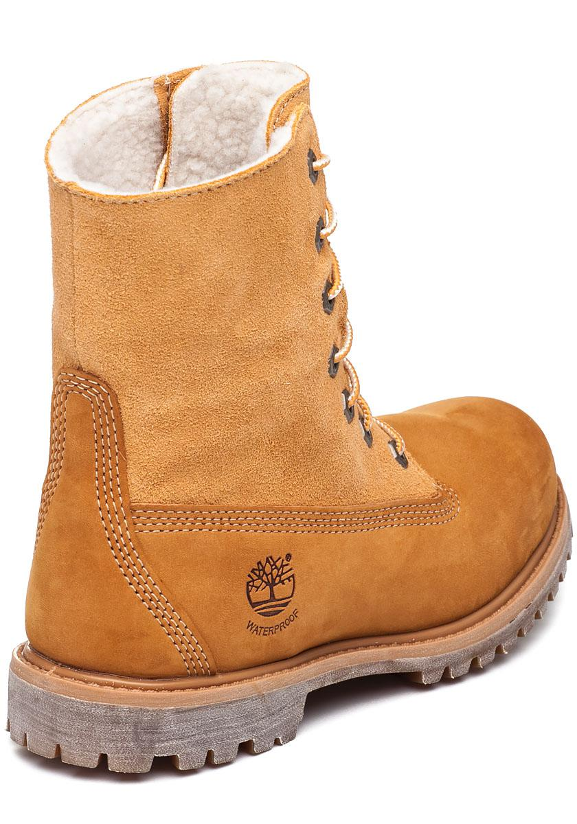 Timberland Fleece Teddy Fold Down Ankle Boot In Natural Lyst