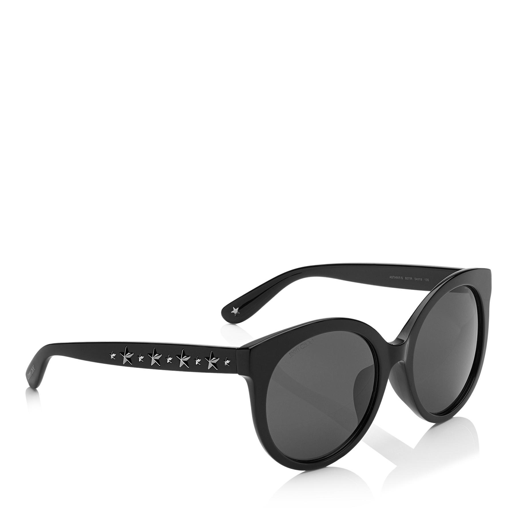 3a31982fc7 Jimmy Choo - Astar Black Oversized Sunglasses With Star Stud Detailing -  Lyst. View fullscreen