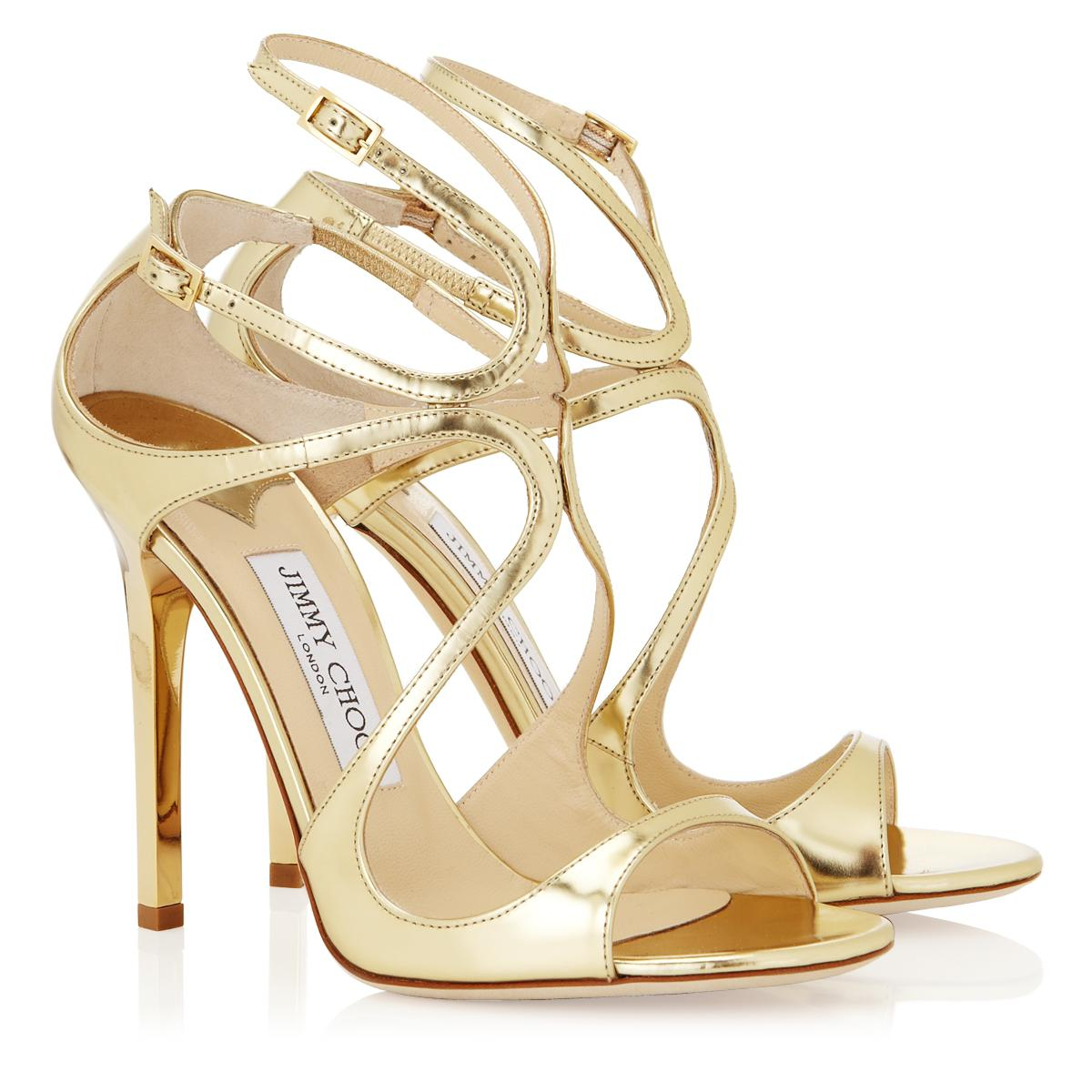 Jimmy Choo Lance Gold Mirror Leather