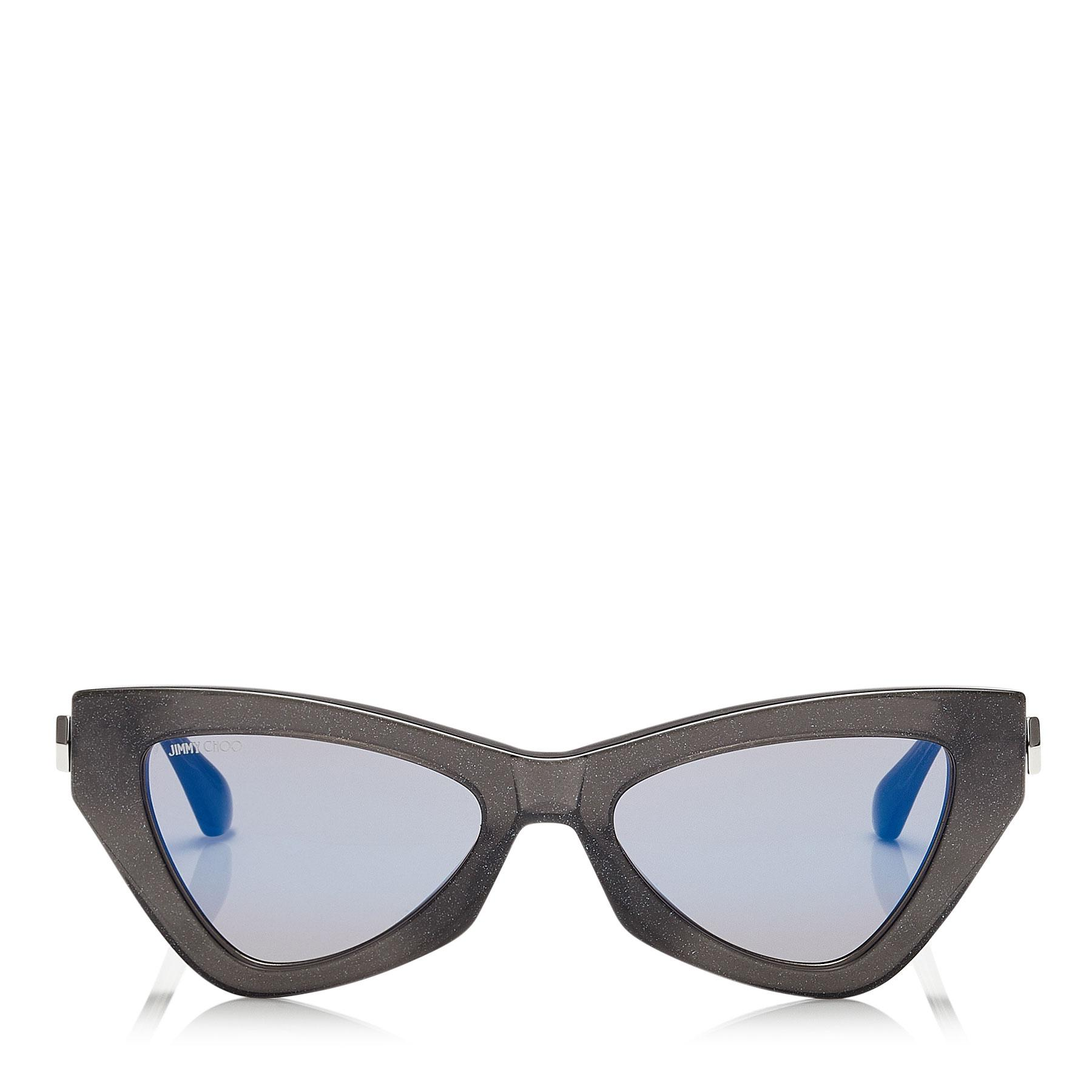 bf3c865e8d6e Jimmy Choo Donna Blue Sky Mirror Cat Eye Sunglasses With Grey ...