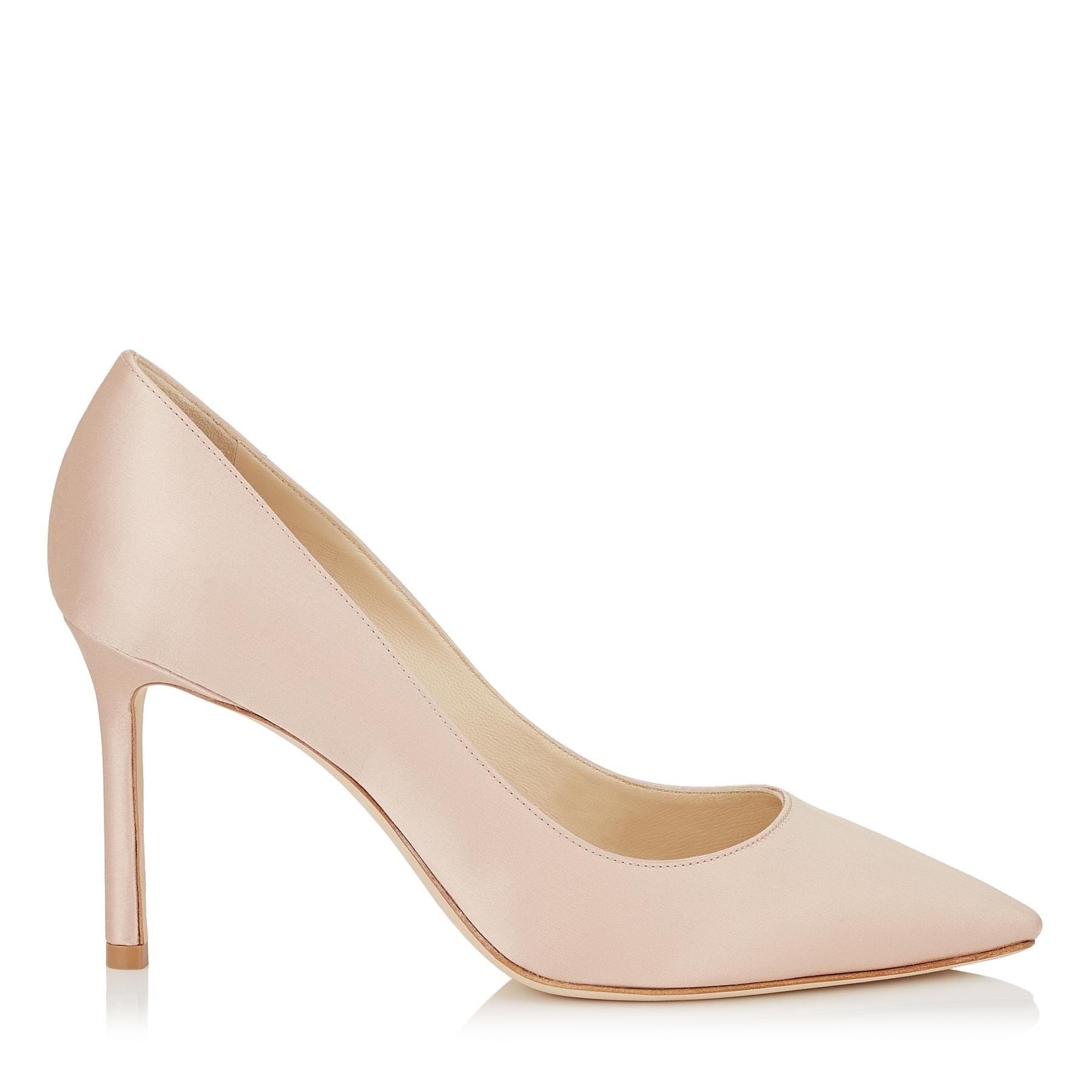 57e4d13bda3 Jimmy Choo. Women s Pink Romy 85 Dusty Rose Satin Pointy Toe Court Shoes ...