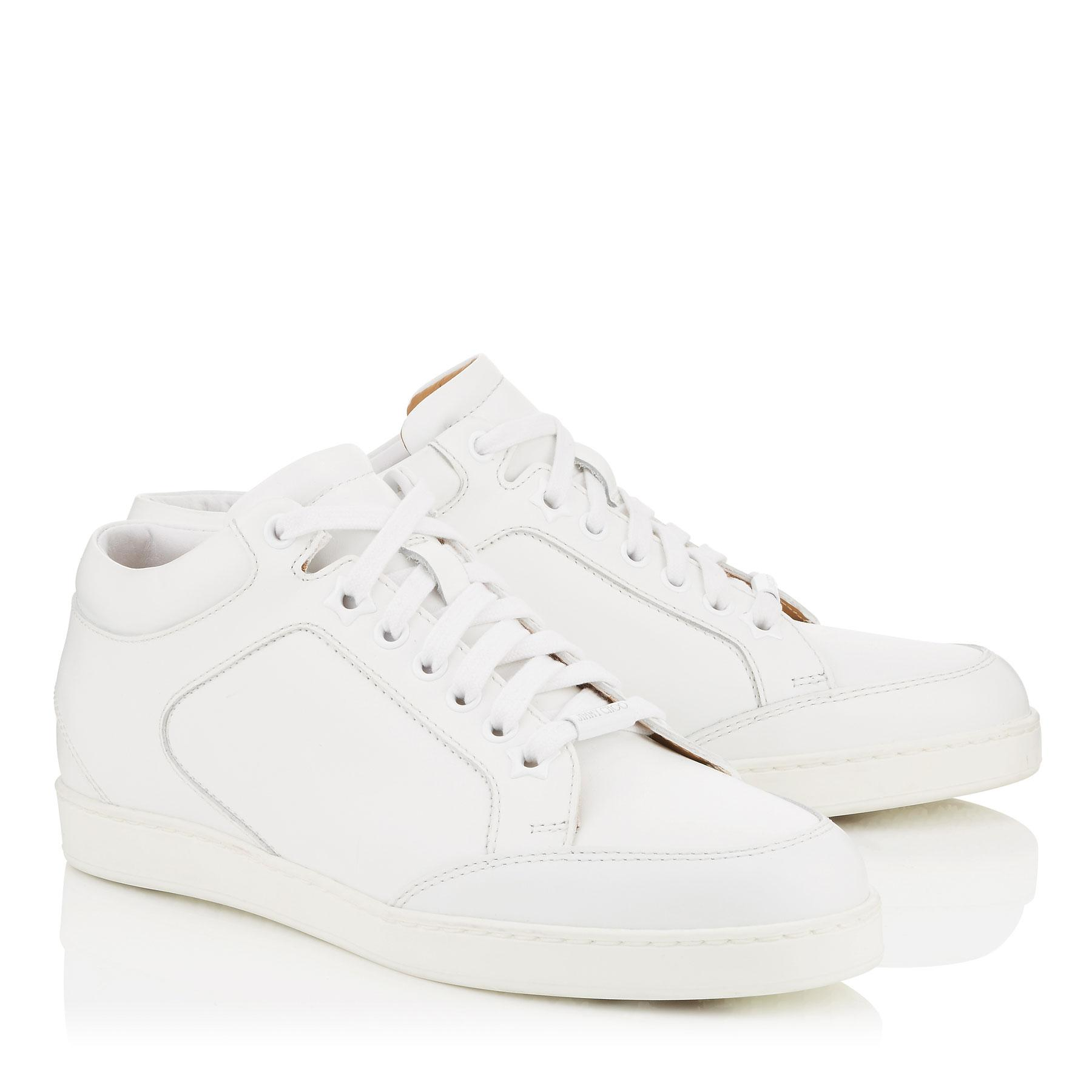 Jimmy Choo Leather Miami in White - Lyst