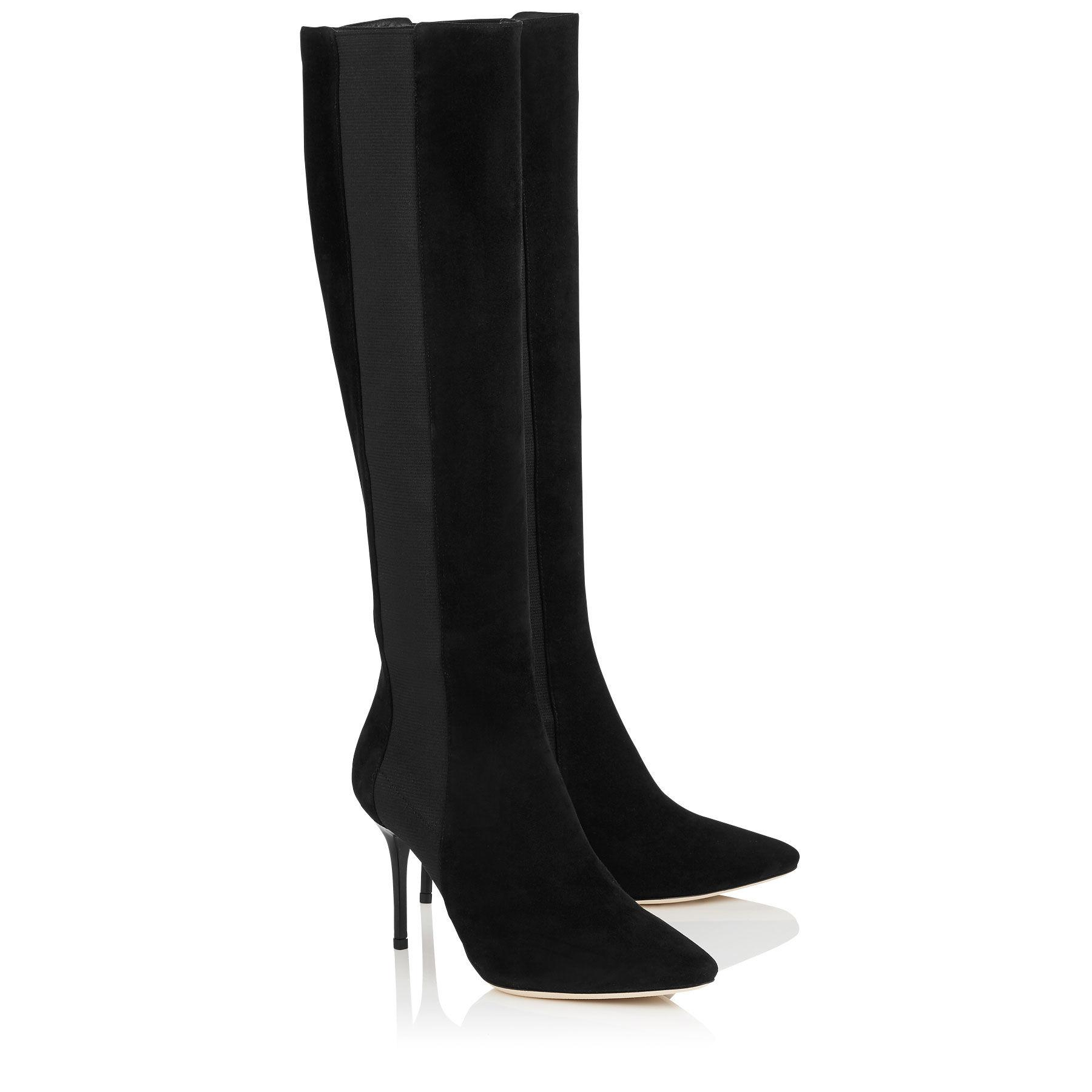 jimmy choo faith 65 suede knee high boots in black lyst