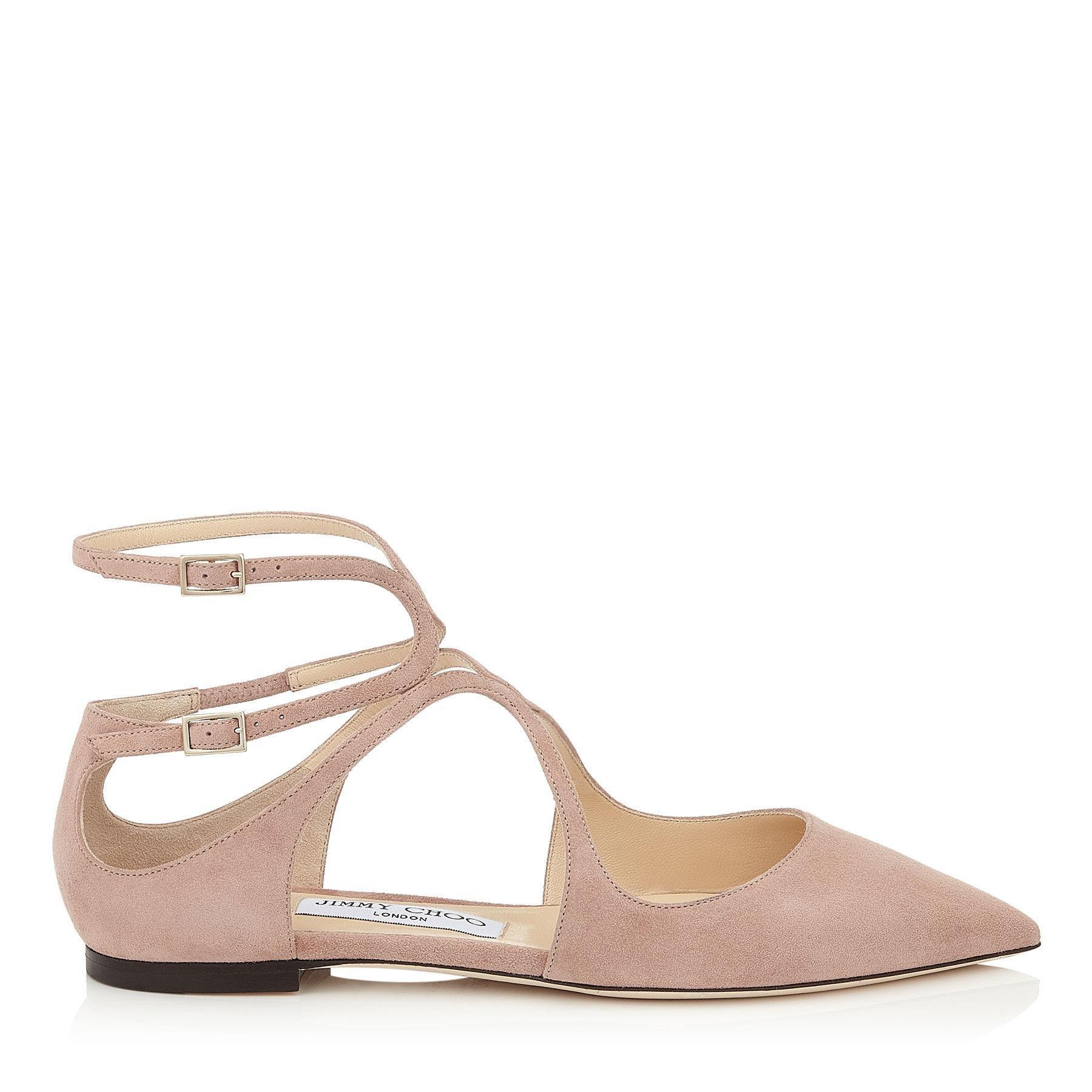 Afia Crystal-embellished Leather Sandals - Baby pink Jimmy Choo London AykLL1ZZr