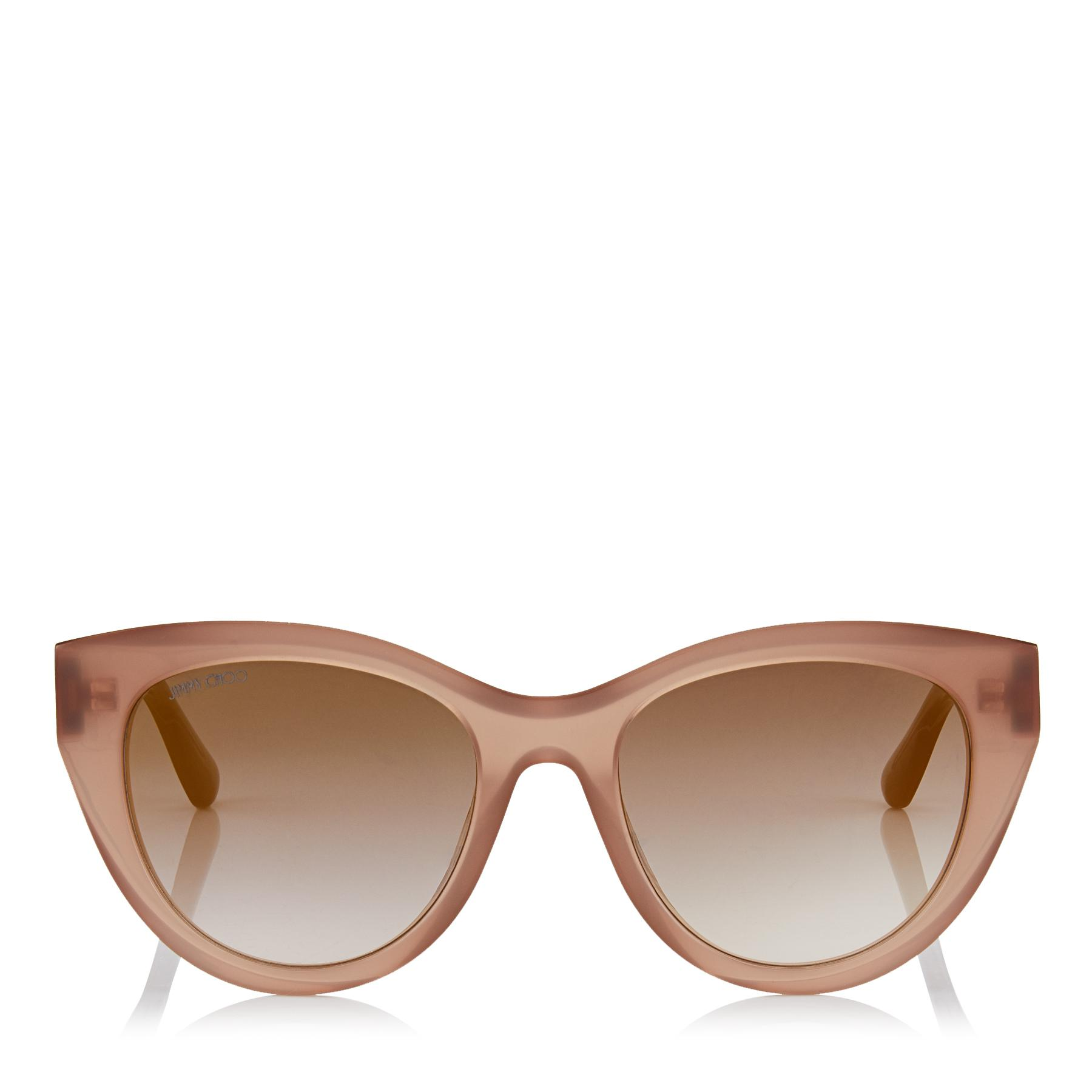 845c305588 Jimmy Choo. Women s Metallic Chana Opal Nude Cat-eye Sunglasses With Copper  Gold Chain Detailing