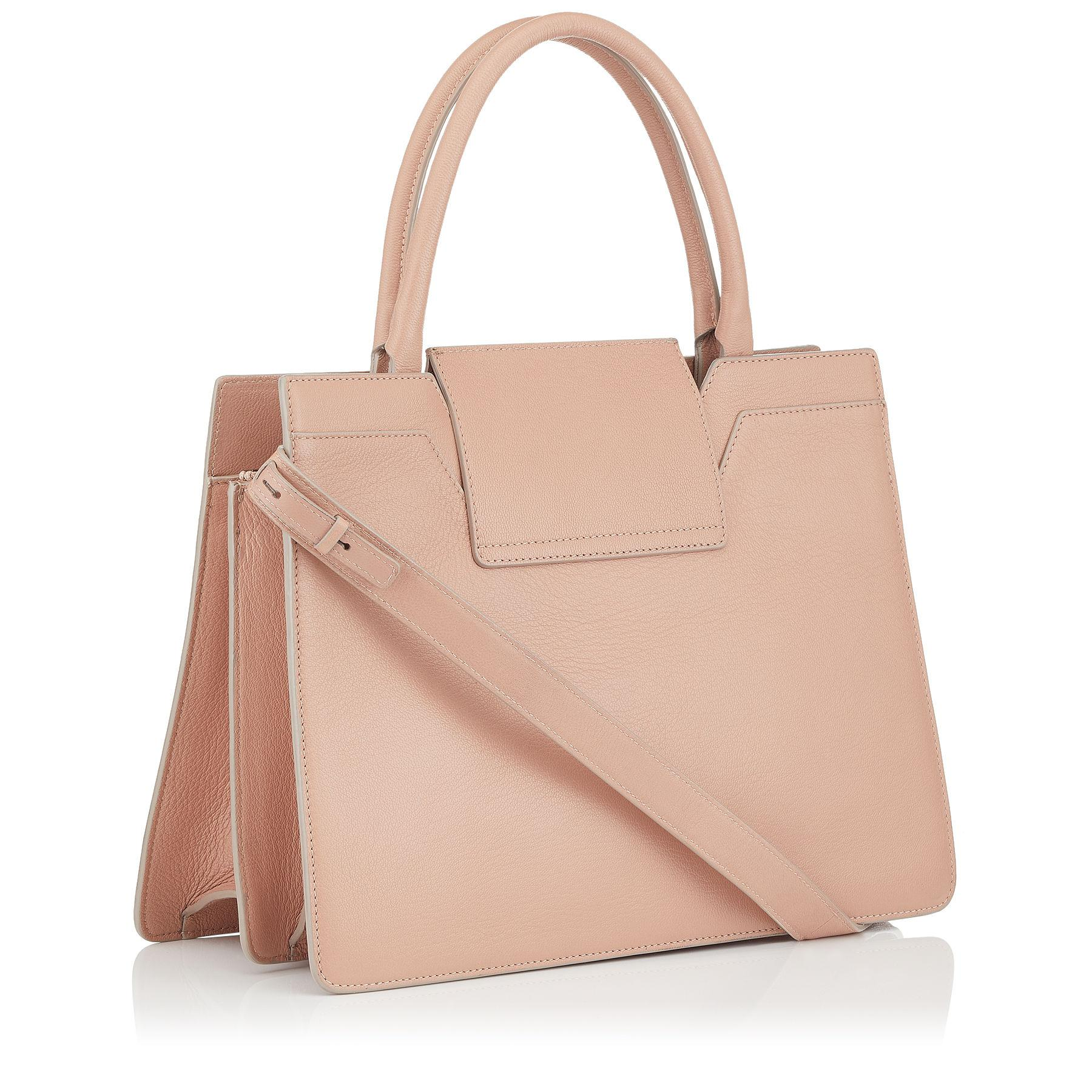 Jimmy Choo Leather Rebel Tote in Pink
