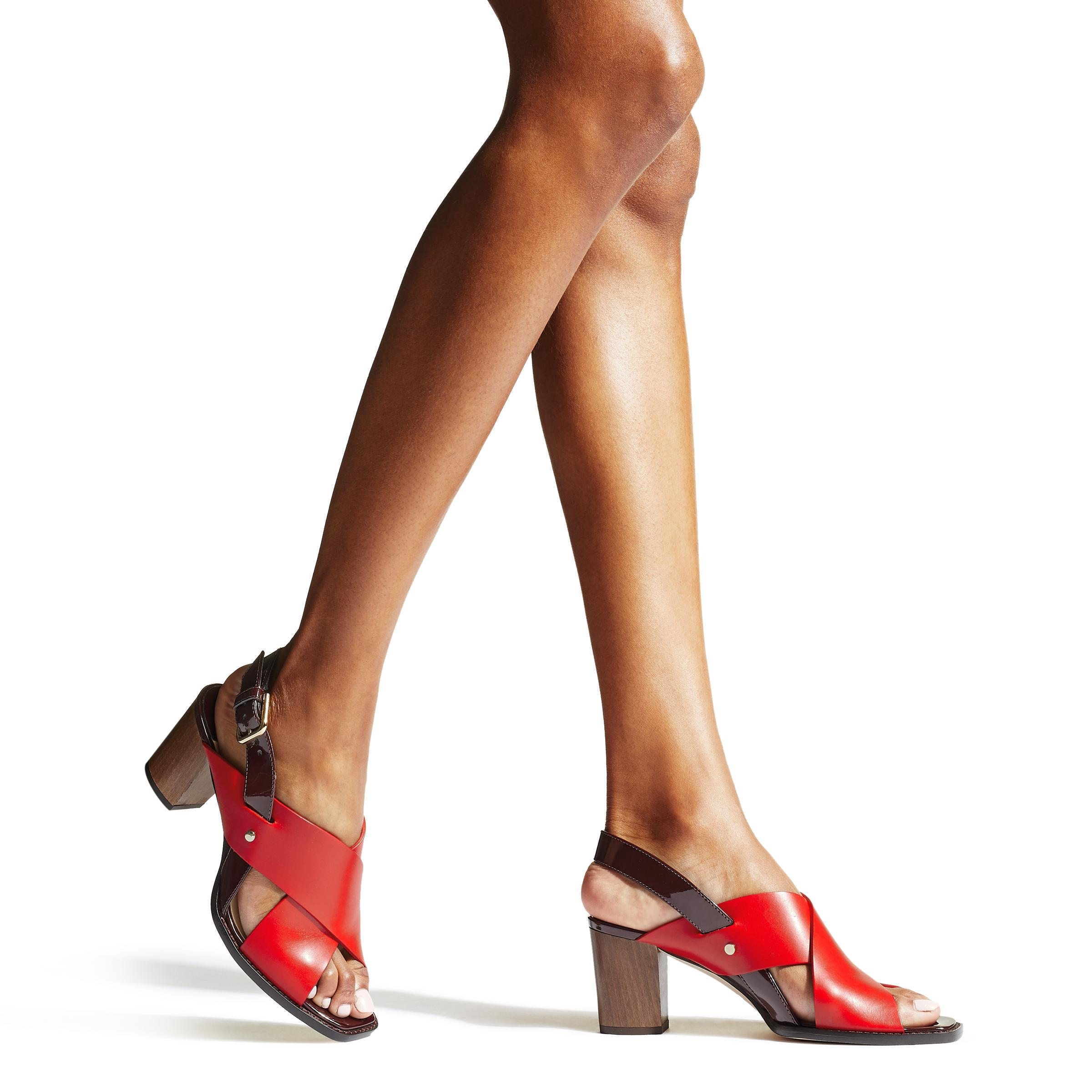 Jimmy Choo Aix 65 Sandals in Red - Save