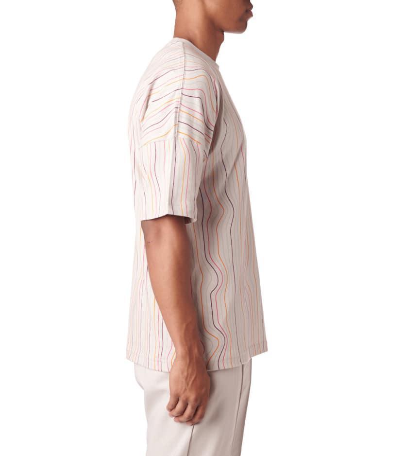 ce82fe1b4b adidas Originals Warped Stripes Tee for Men - Lyst