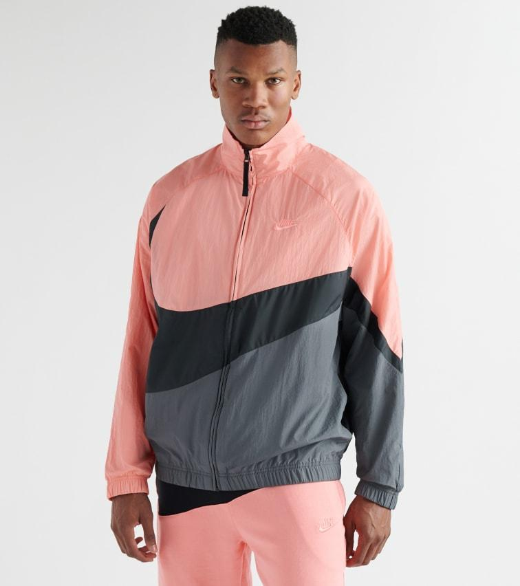 A bordo Horizontal bandera nacional  Nike Synthetic Swoosh Woven Jacket in Pink for Men - Lyst