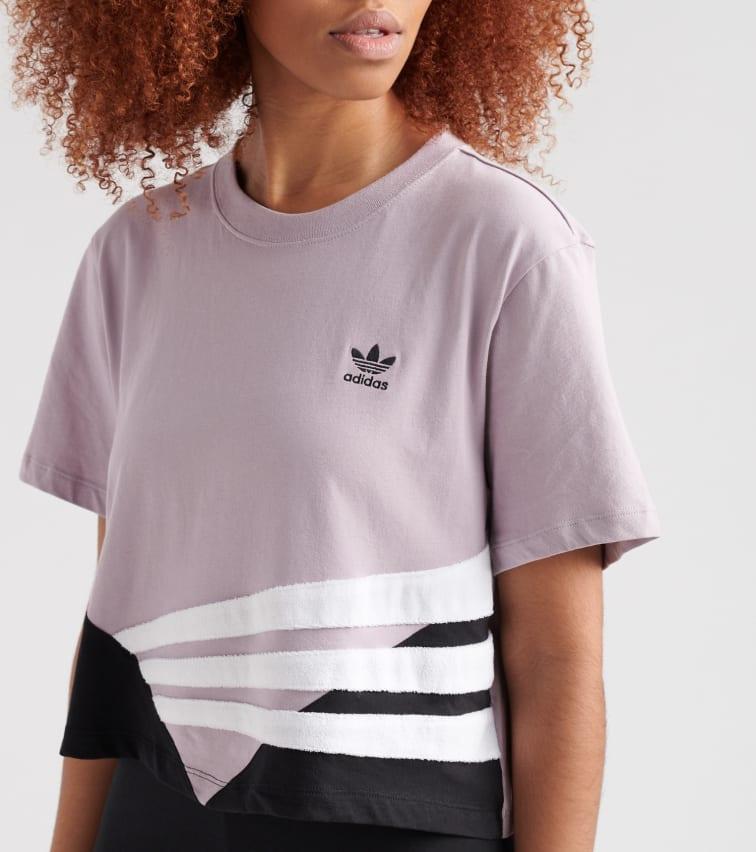 b01e2a5d Adidas Purple Bossy 90's Crop Tee