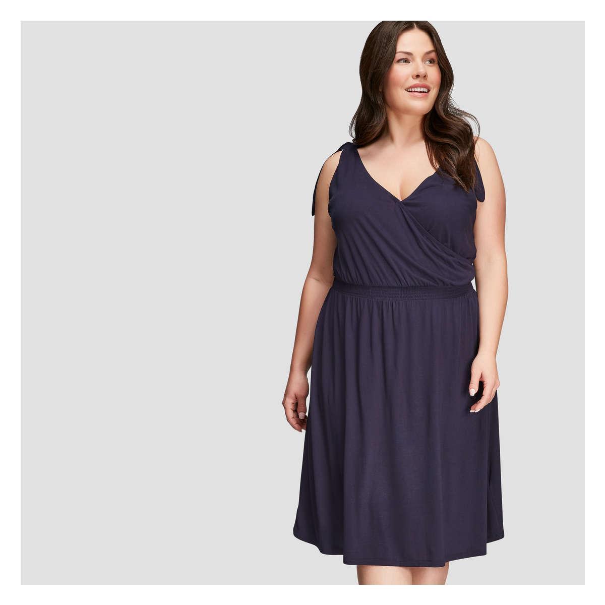 Joe Fresh Women+ Tie Shoulder Dress in Blue - Lyst e43a0a85c