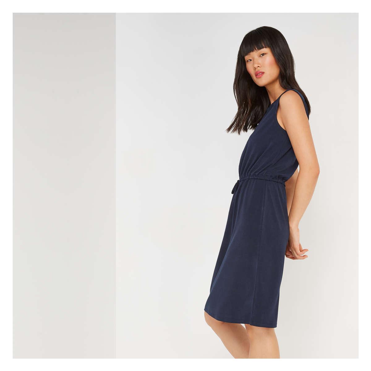 Joe Fresh - Blue Cinched Waist Dress - Lyst. View fullscreen 3e85be98b