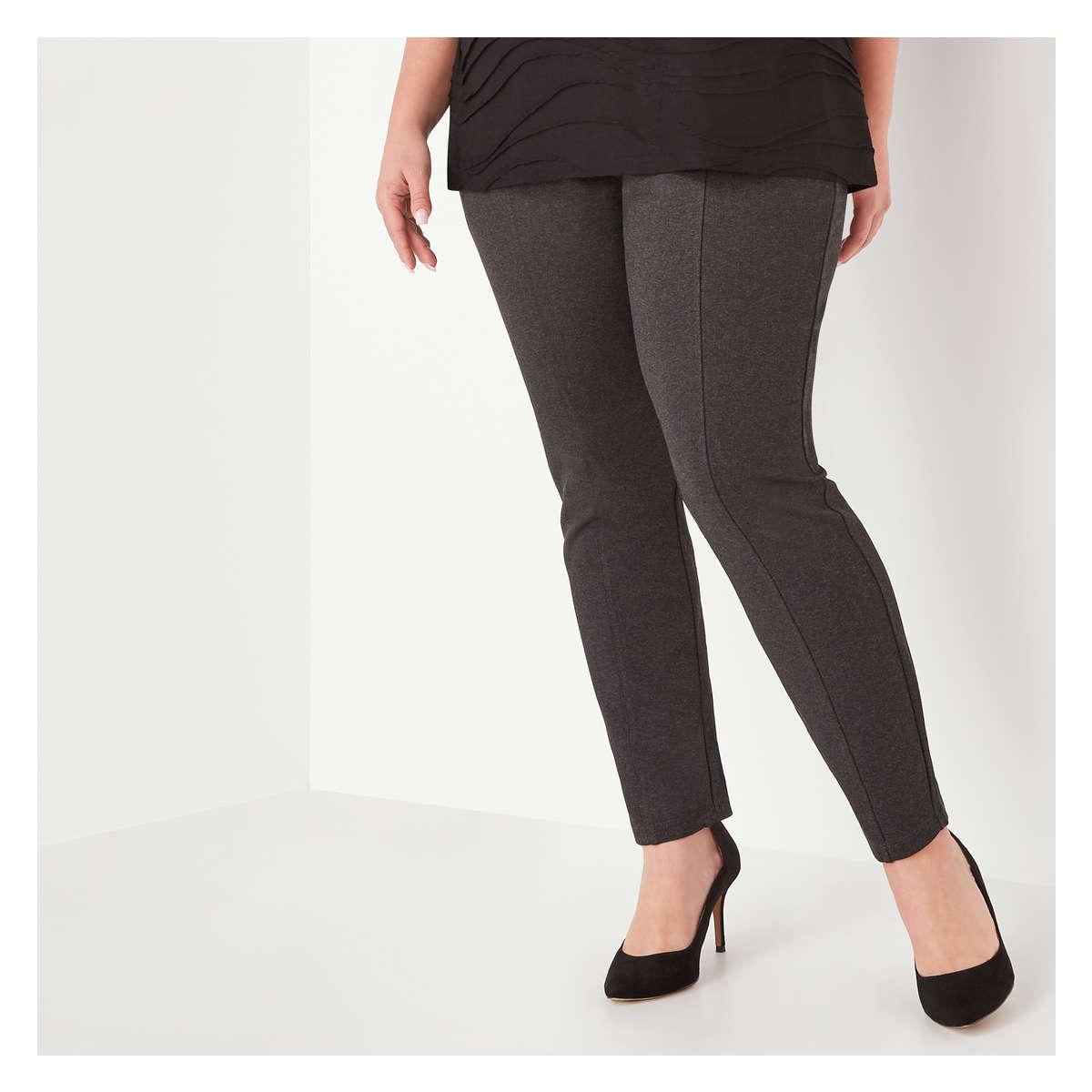 b018d77ed505 Lyst - Joe Fresh Women+ Seam Front Ponte Pant With Elastic Waist in Gray