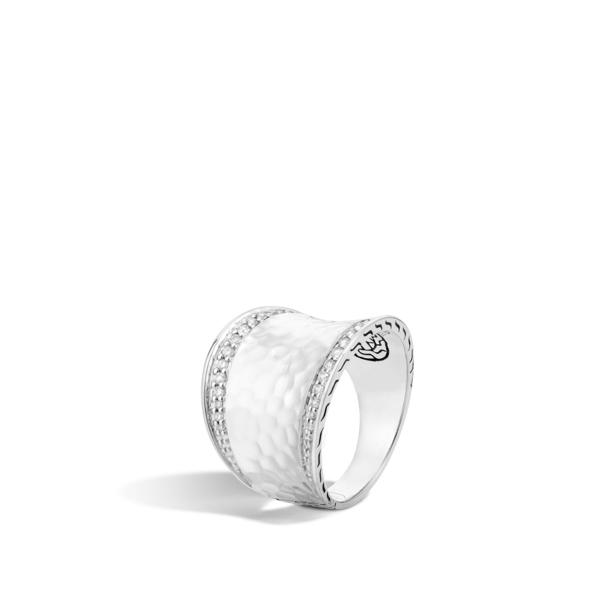 John Hardy Saddle Ring With Rainbow Moonstone And Diamonds vAMAOyXlS
