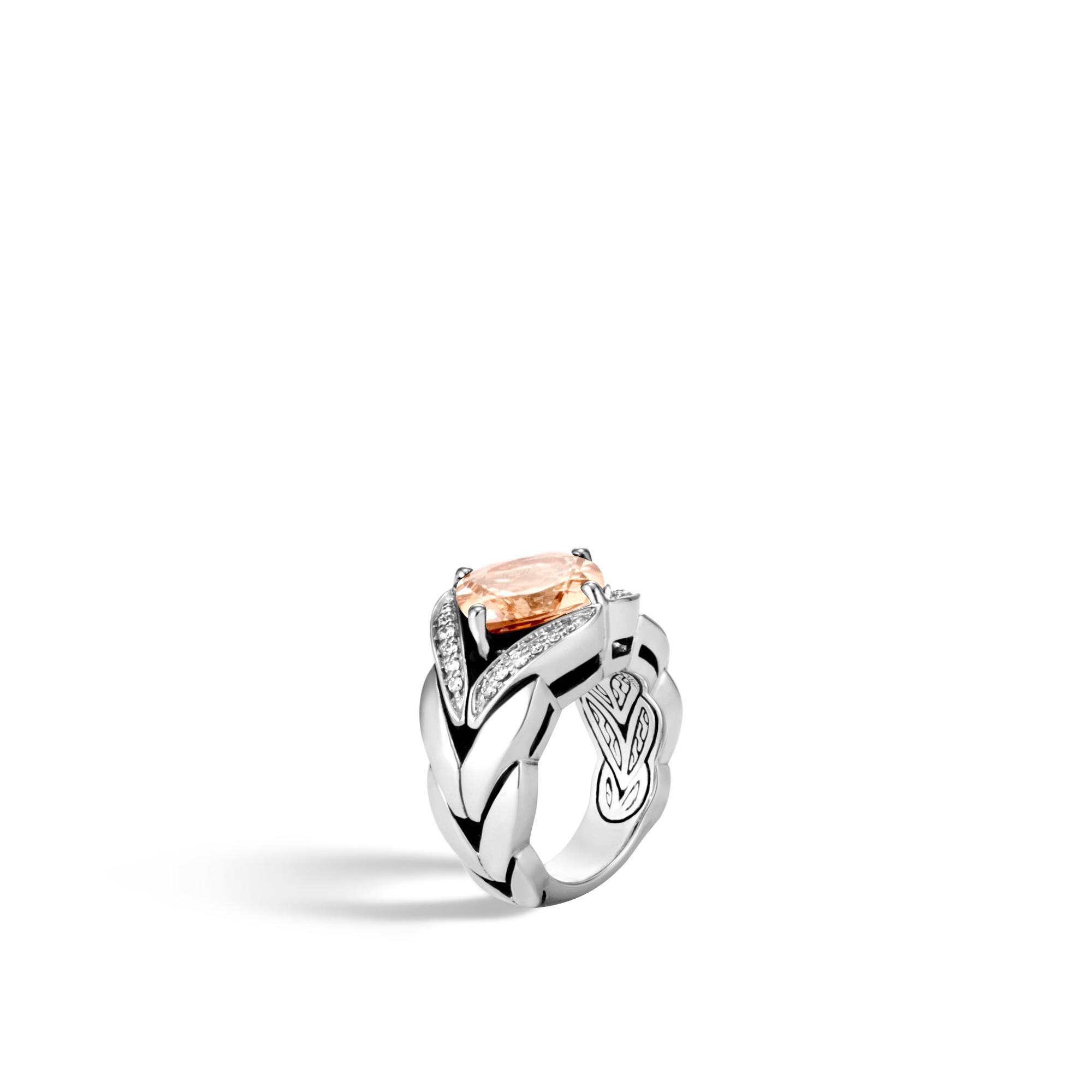 John Hardy Magic Cut Ring With Champagne Topaz And Diamonds ch6YsJ9f