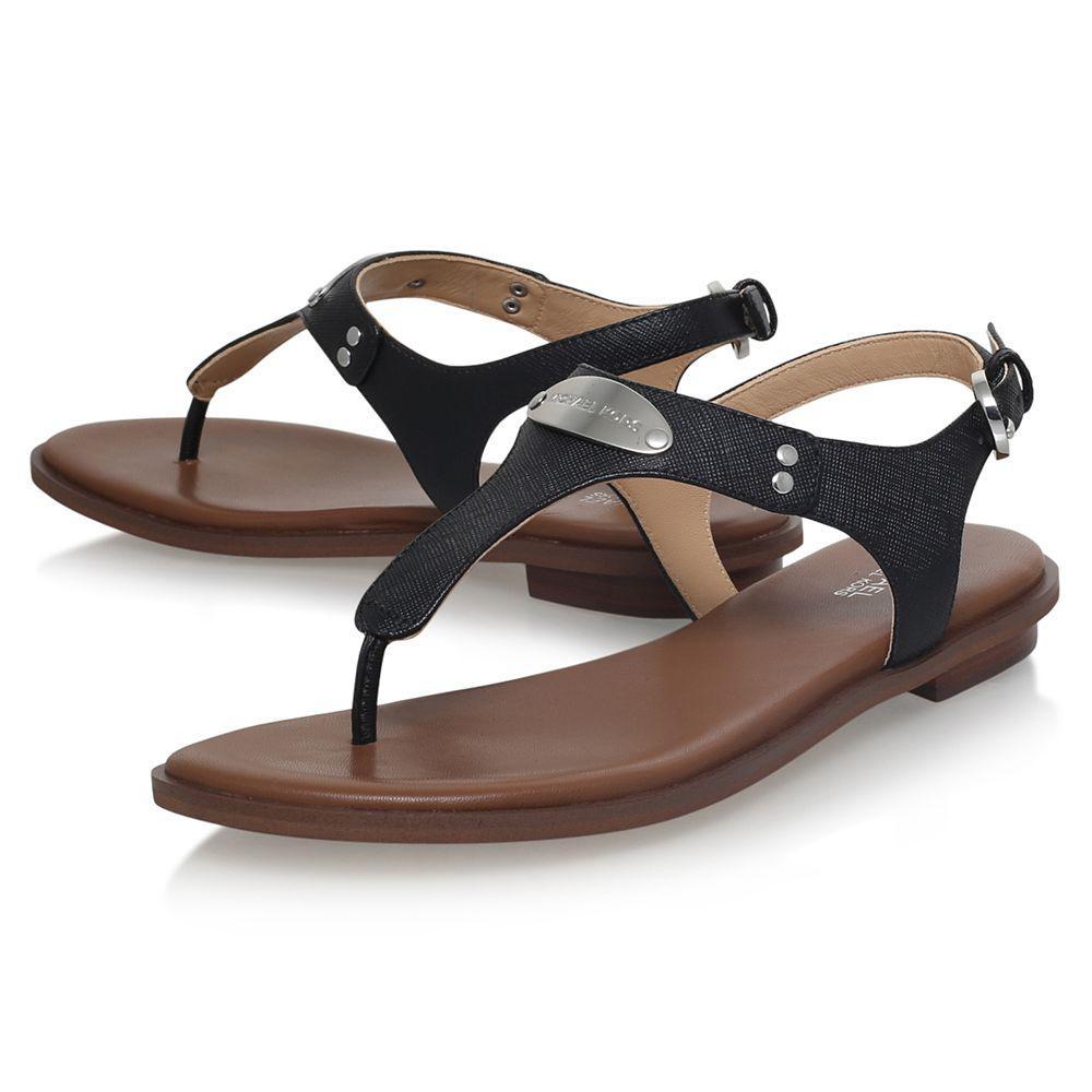 774dba3b761b John Lewis Michael Michael Kors Mk Plate Toe Post Sandals in Black ...
