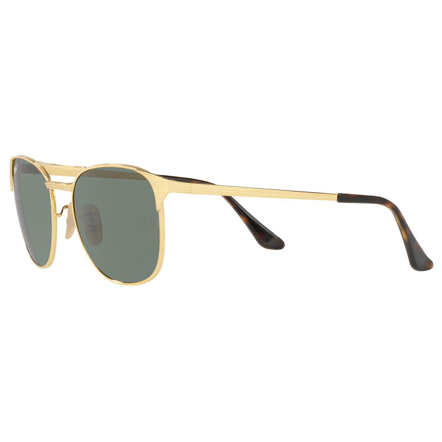 Ray-Ban Rb3429m Polarised Square Sunglasses in Gold/Dark Green (Green) for Men