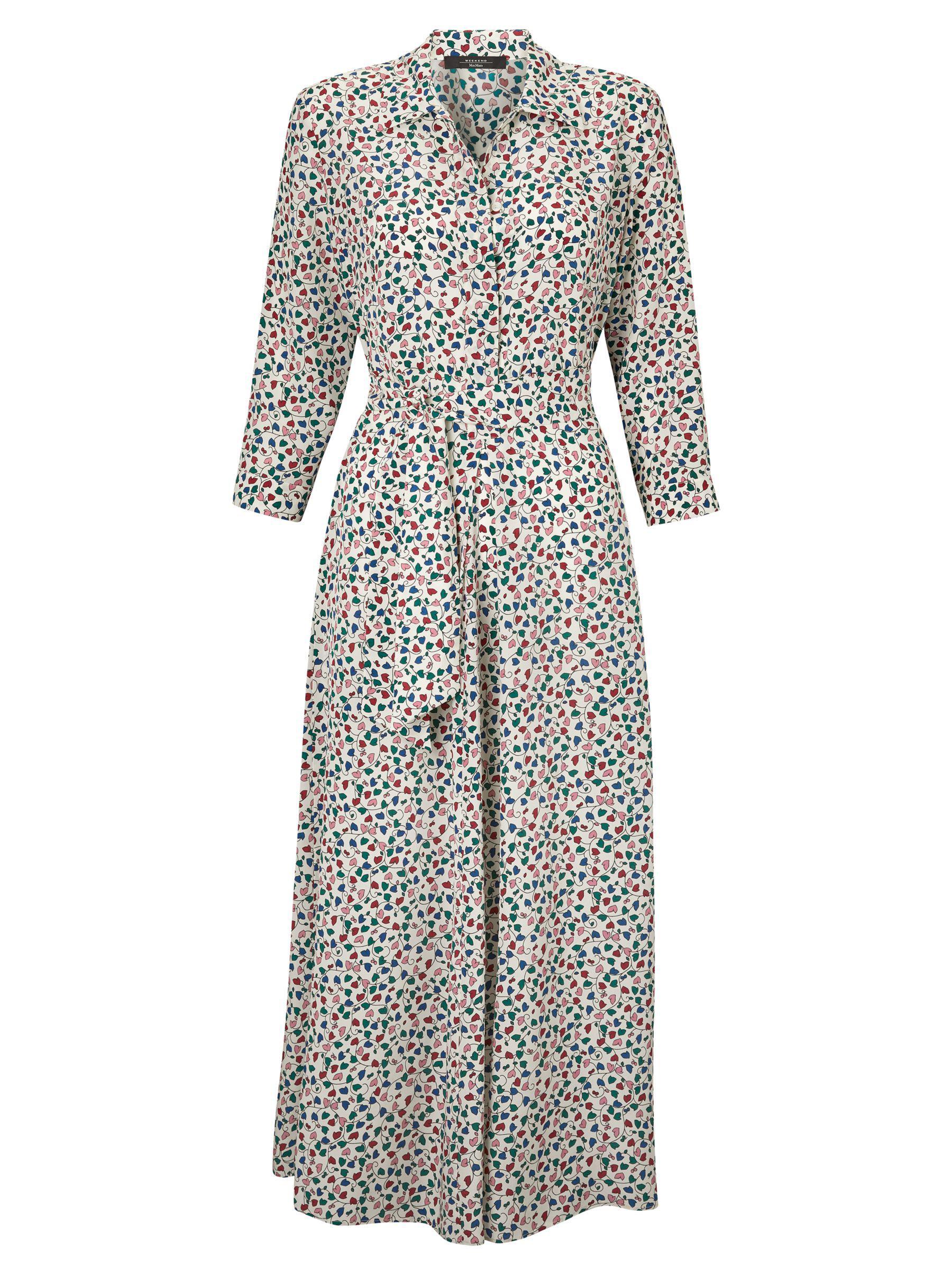 e9a7ab1e84d Weekend by Maxmara Ditsy Floral Print Silk Dress - Lyst