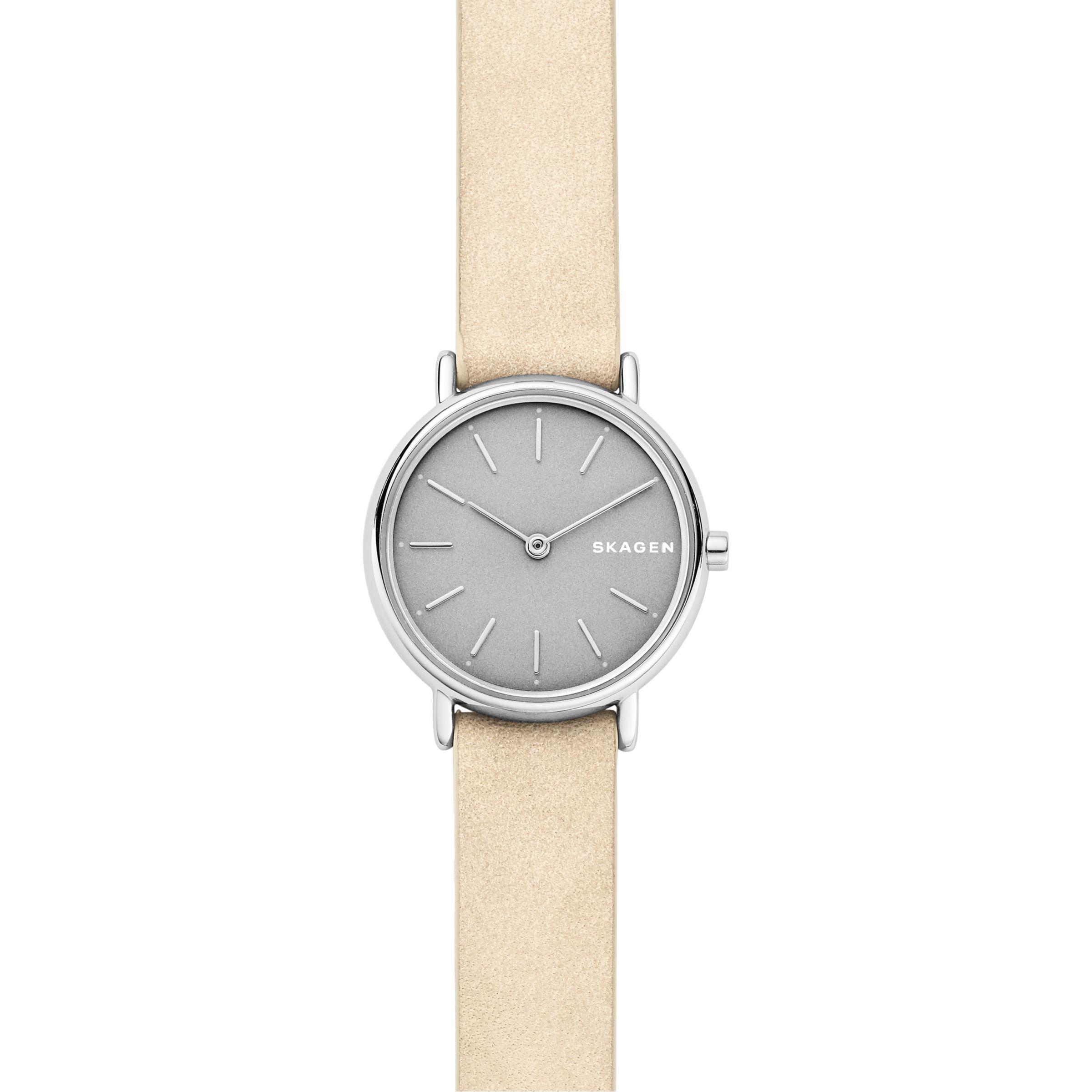 539bef397 Skagen Skw2696p Women's Signatur Slim Nubuck Leather Watch in ...