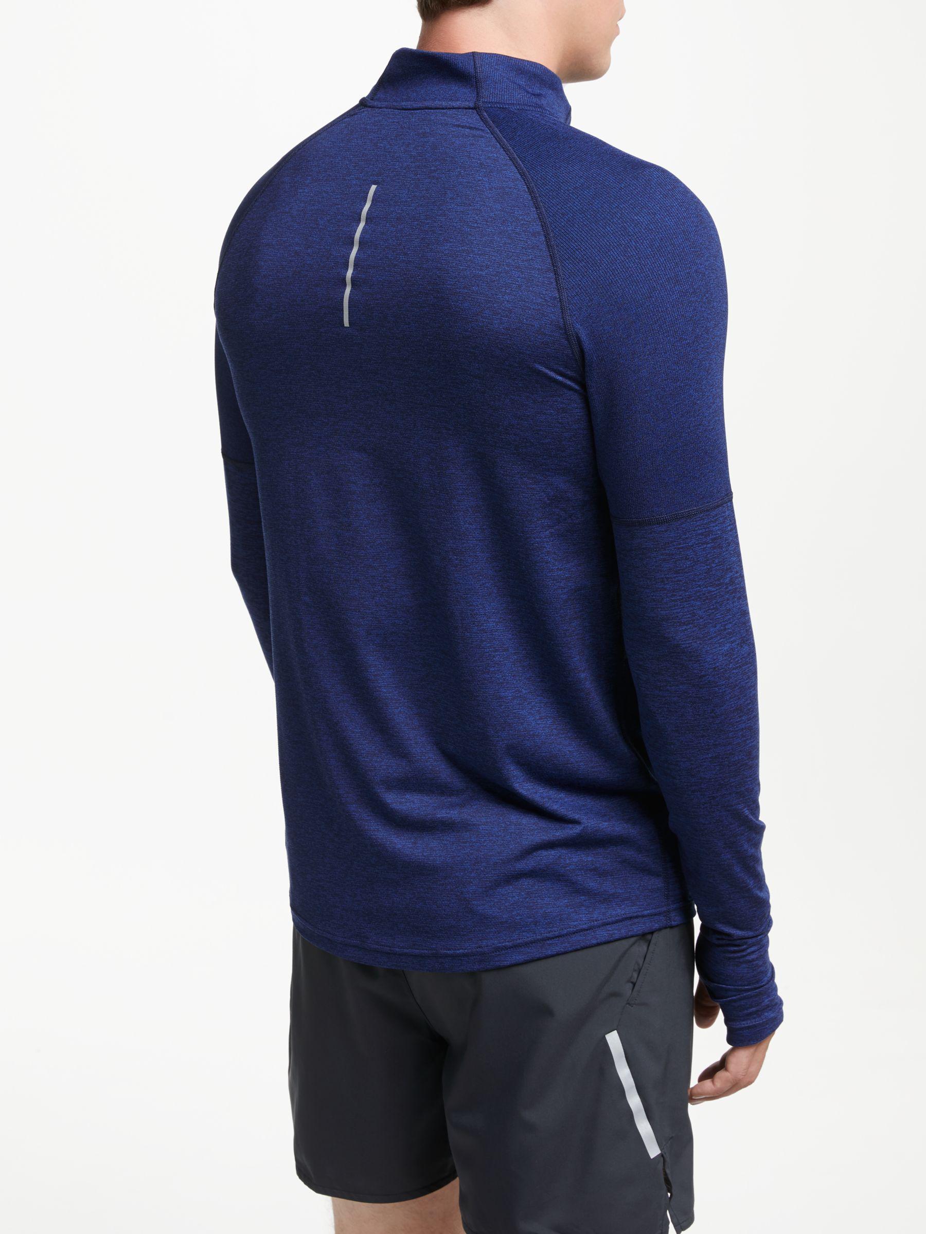 5360e0d56d0c Nike Dry Element 1 2 Zip Running Top in Blue for Men - Lyst