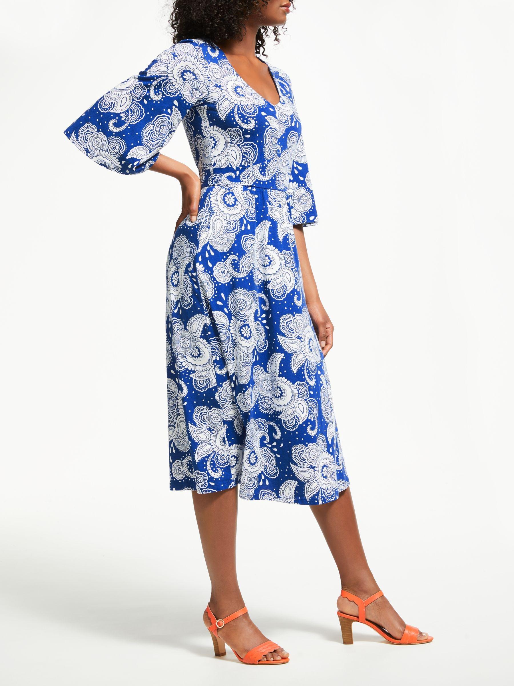 Boden Cotton Louisa Jersey Dress In Blue Lyst