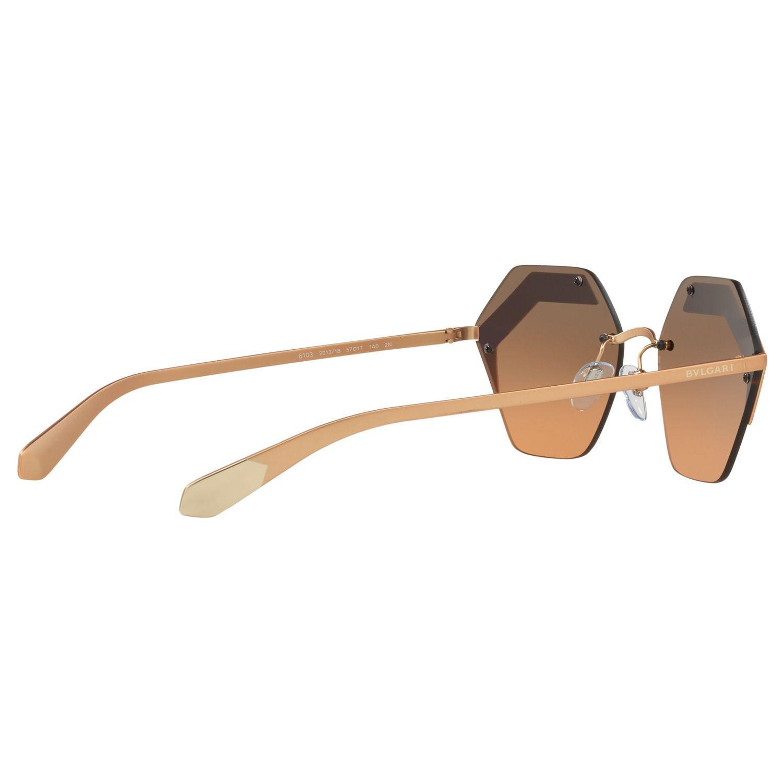 BVLGARI Bv6103 Hexagonal Sunglasses