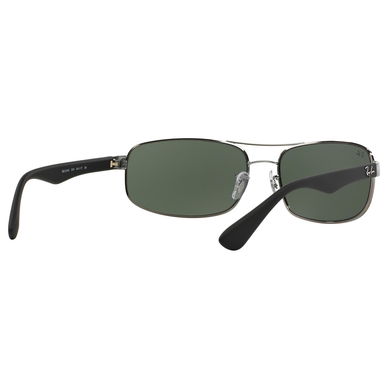 Ray-Ban Rb3445 Rectangular Sunglasses in Black/Dark Green (Green)