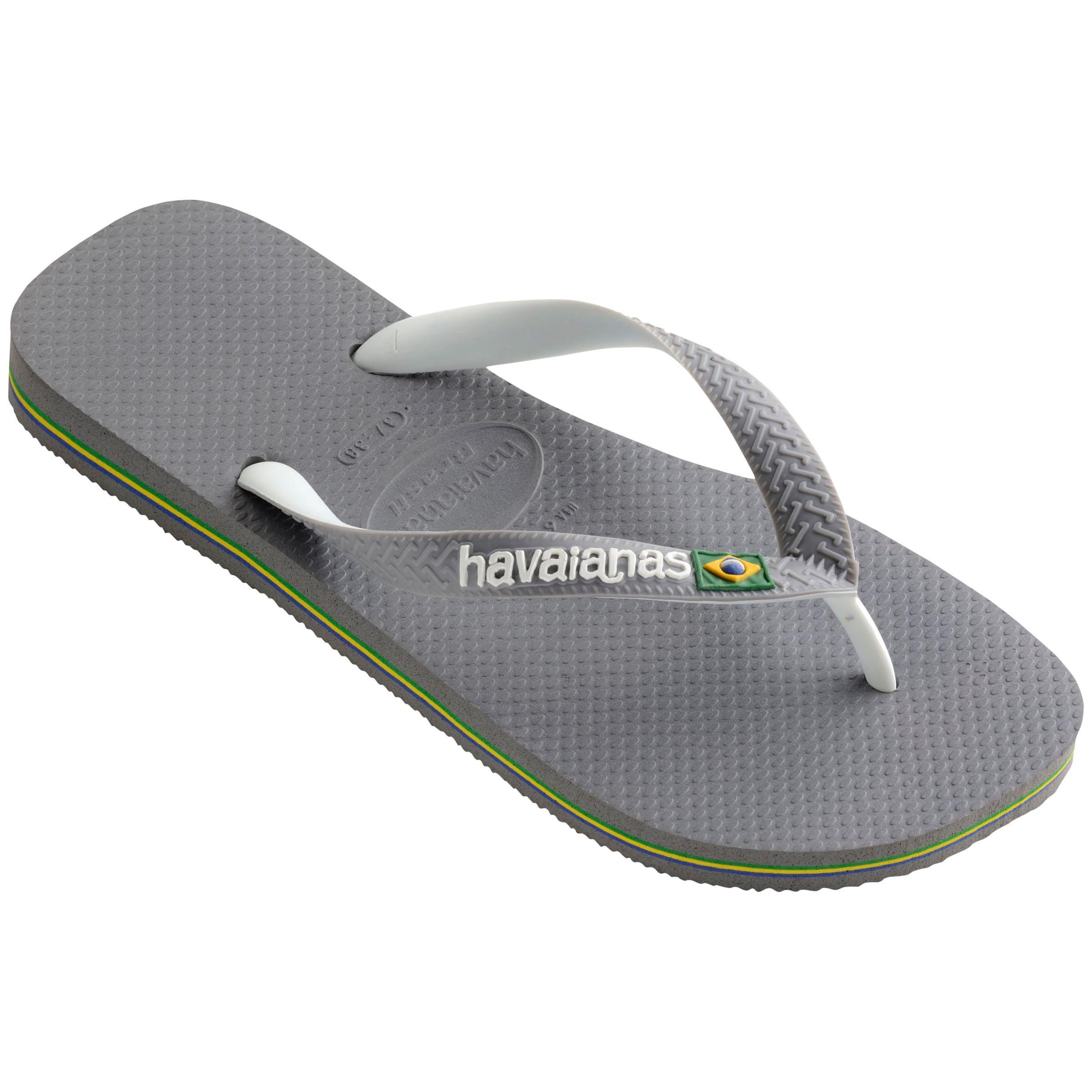 04d1036725a4 Havaianas Brasil Logo Flip Flops in Gray for Men - Lyst