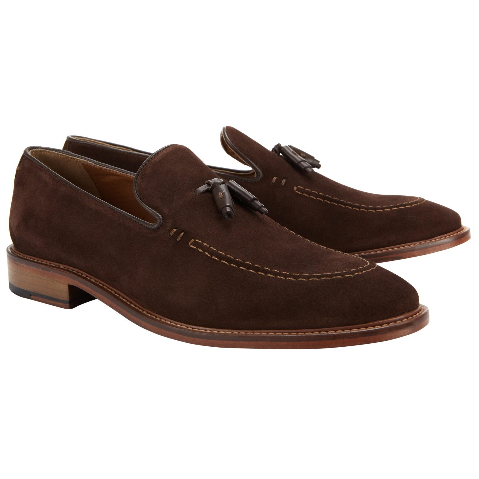 John Lewis Suede Tassel Loafers in Brown for Men