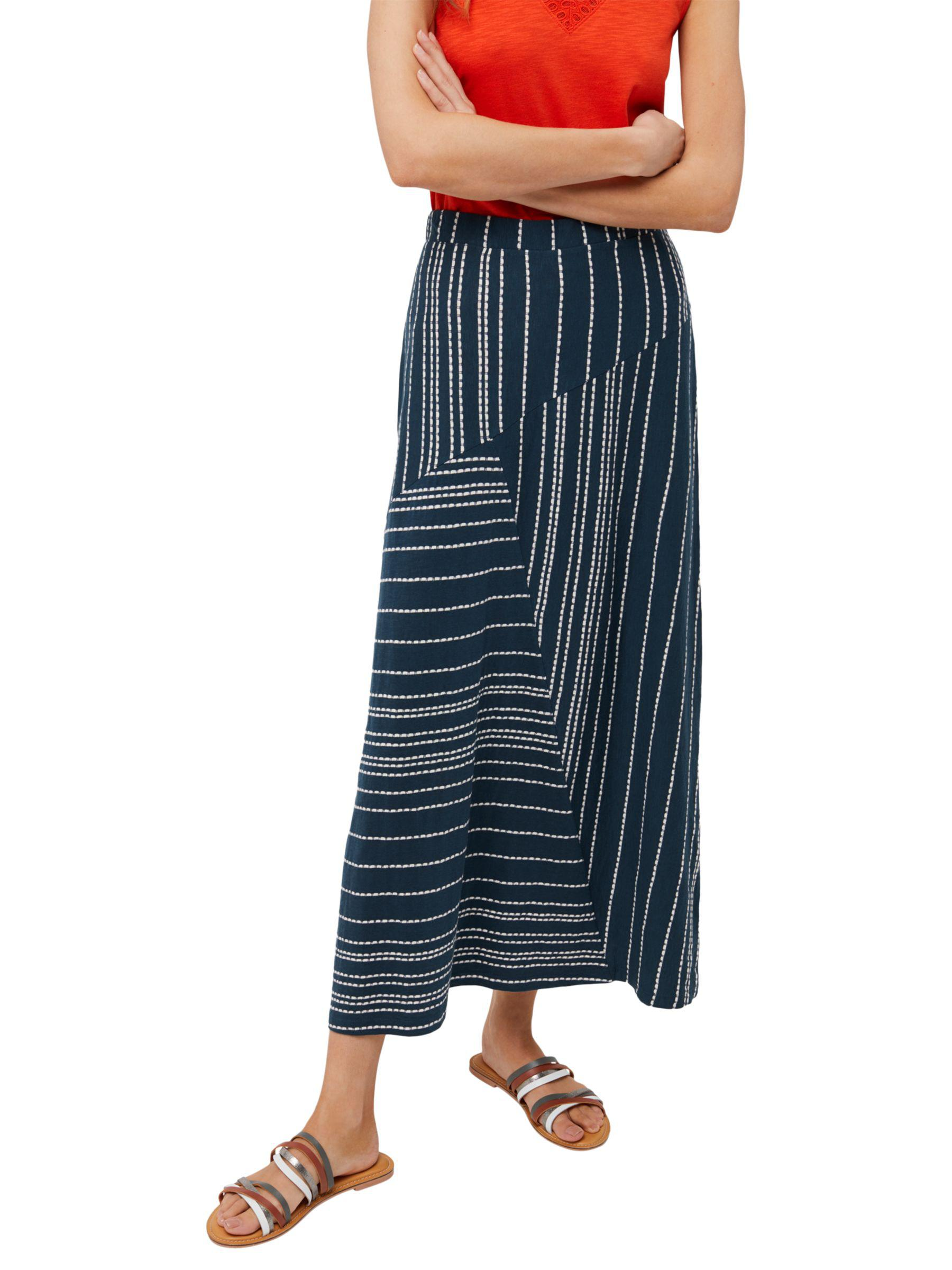 23b1ccd67985 White Stuff Holly Hock Jersey Maxi Skirt in Blue - Lyst