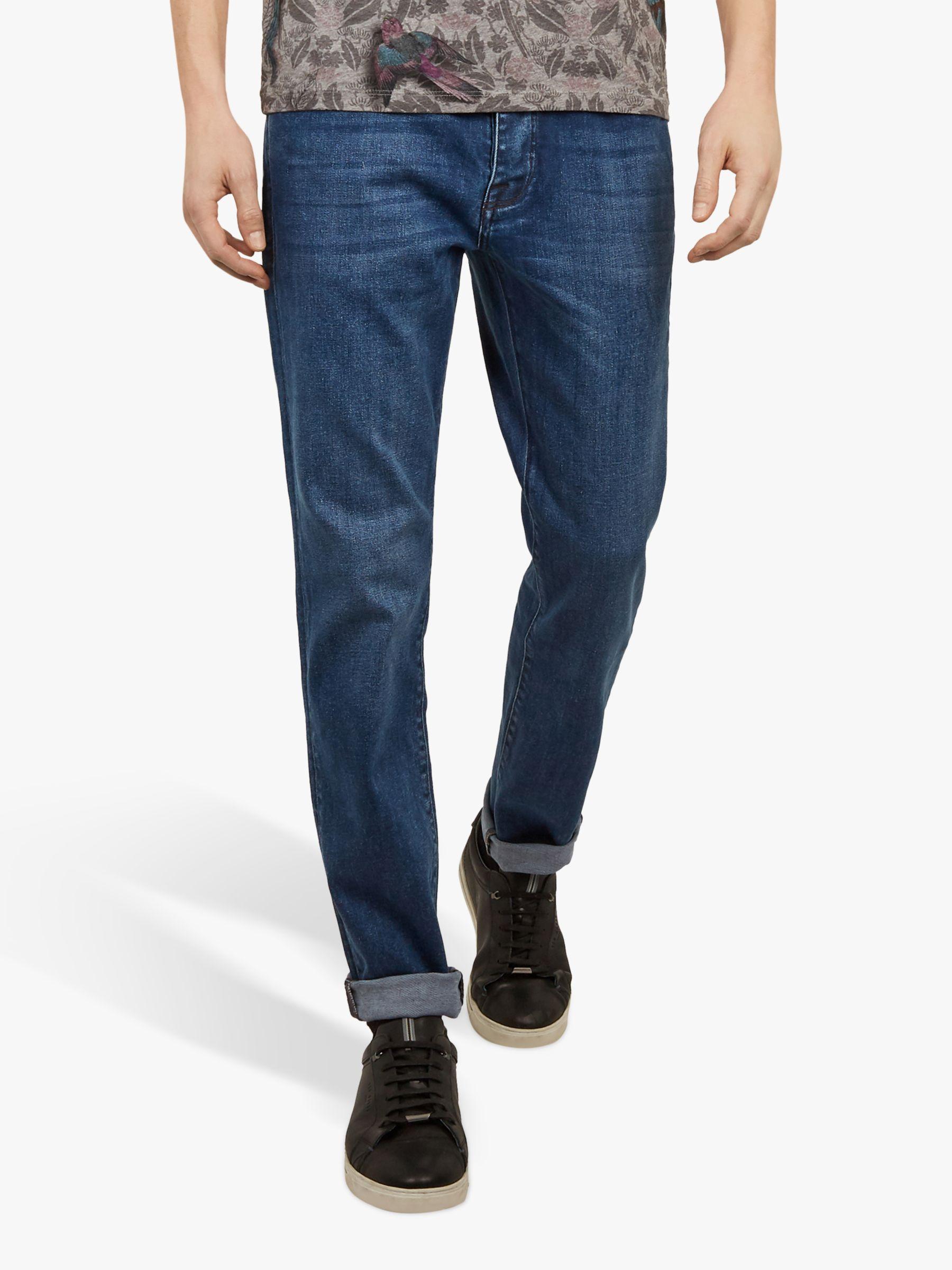 83d1715a149e Ted Baker Breezie Straight Leg Jeans in Blue for Men - Lyst