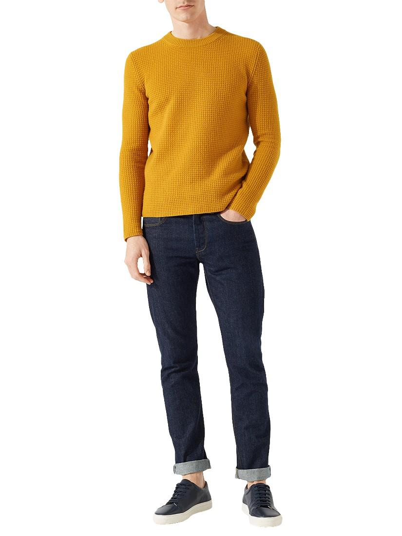 Jigsaw Wool Waffle Knitted Jumper for Men