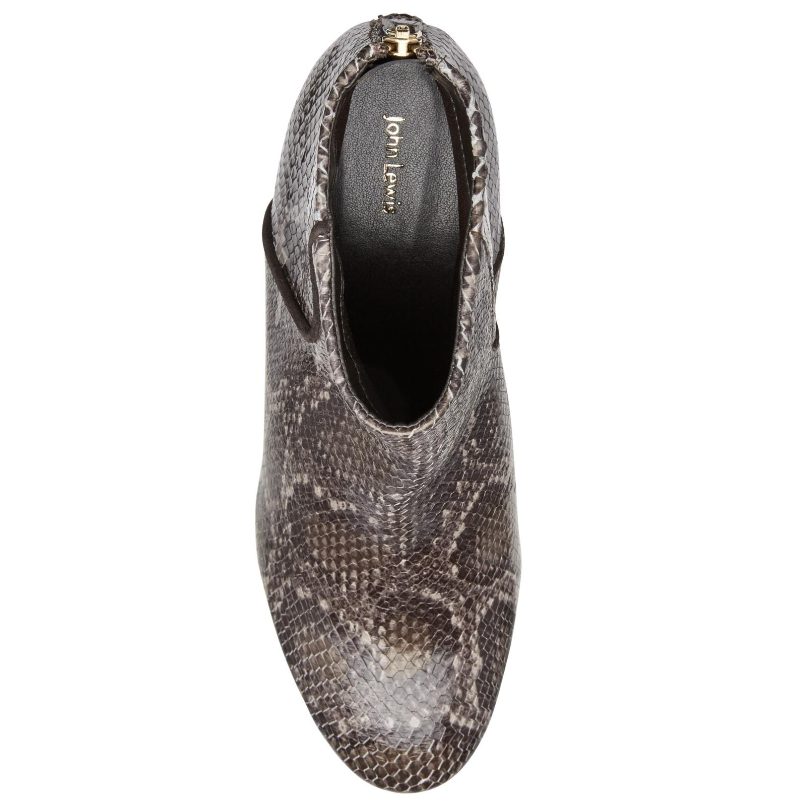 John Lewis Denim Ona Block Heeled Ankle Boots