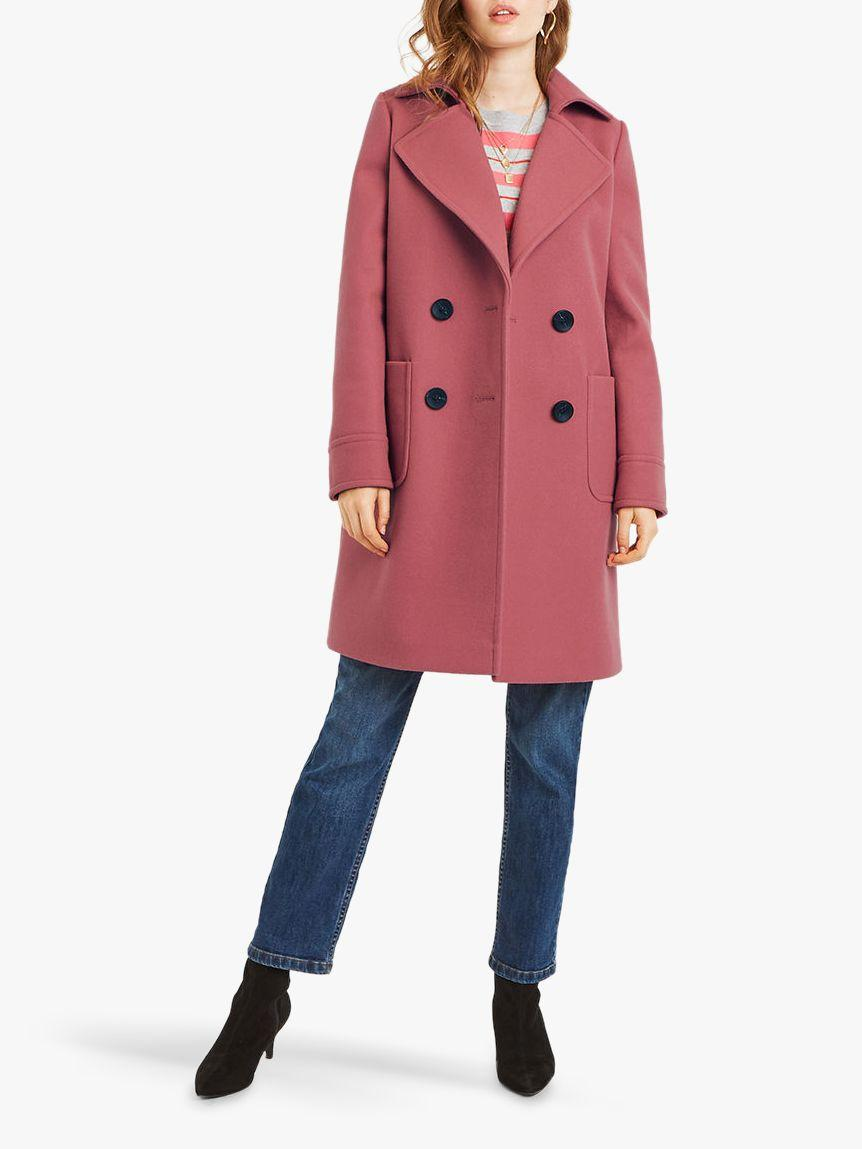 86f66fc40130 Oasis Charmaine Coat in Pink - Save 20% - Lyst