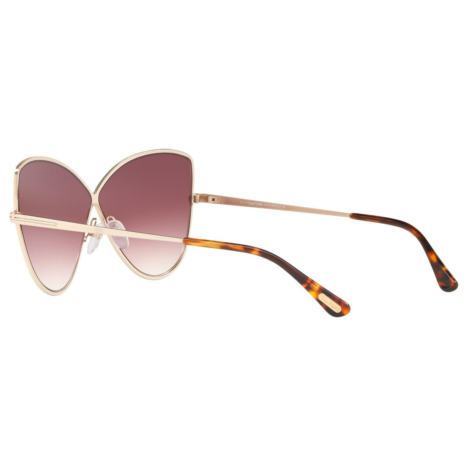 692a558b5cab Tom Ford Ft0569 Women's Elise-02 Cat's Eye Sunglasses in Pink - Lyst