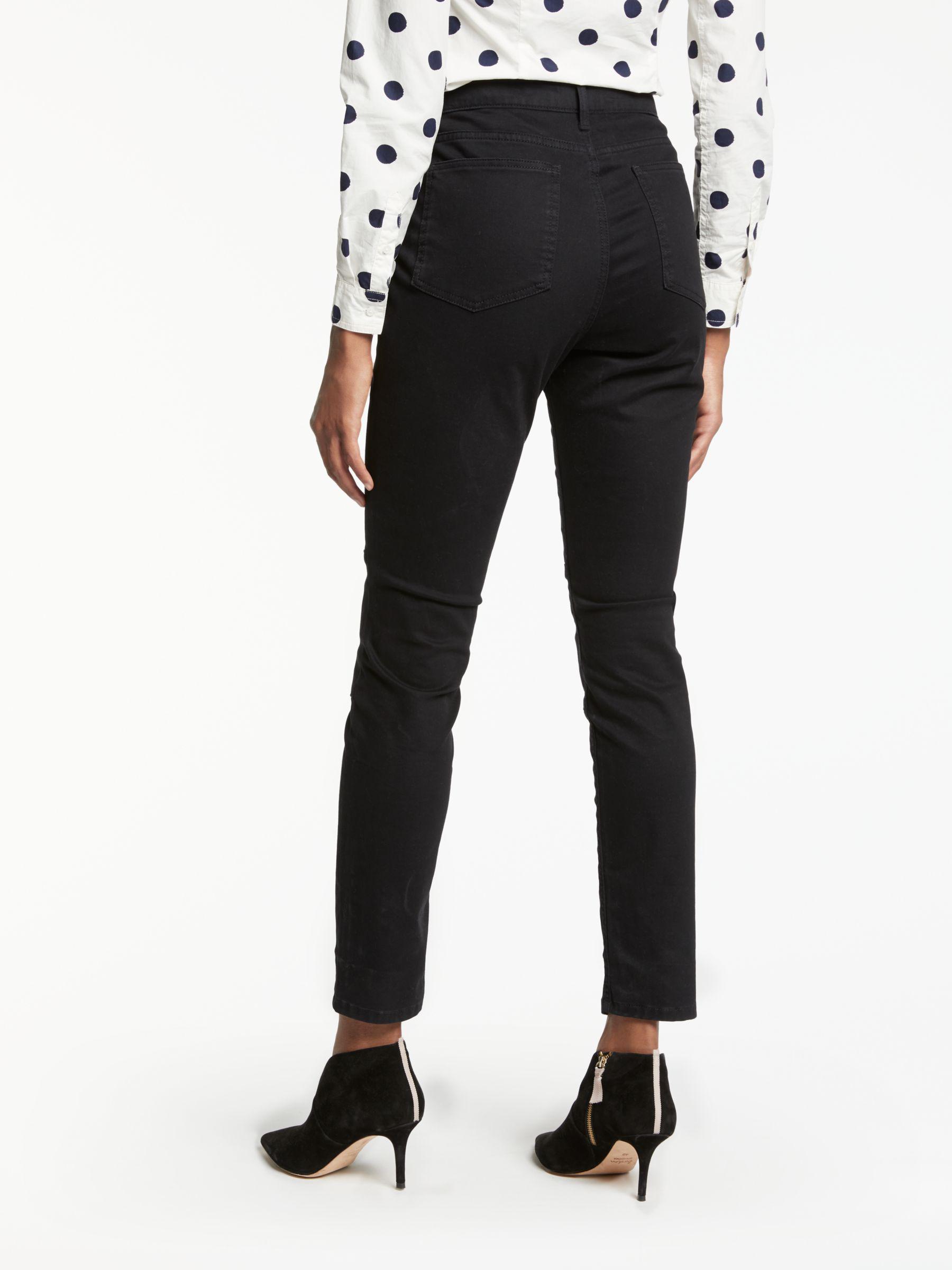 Boden Denim Brighton Biker Skinny Jeans in Black