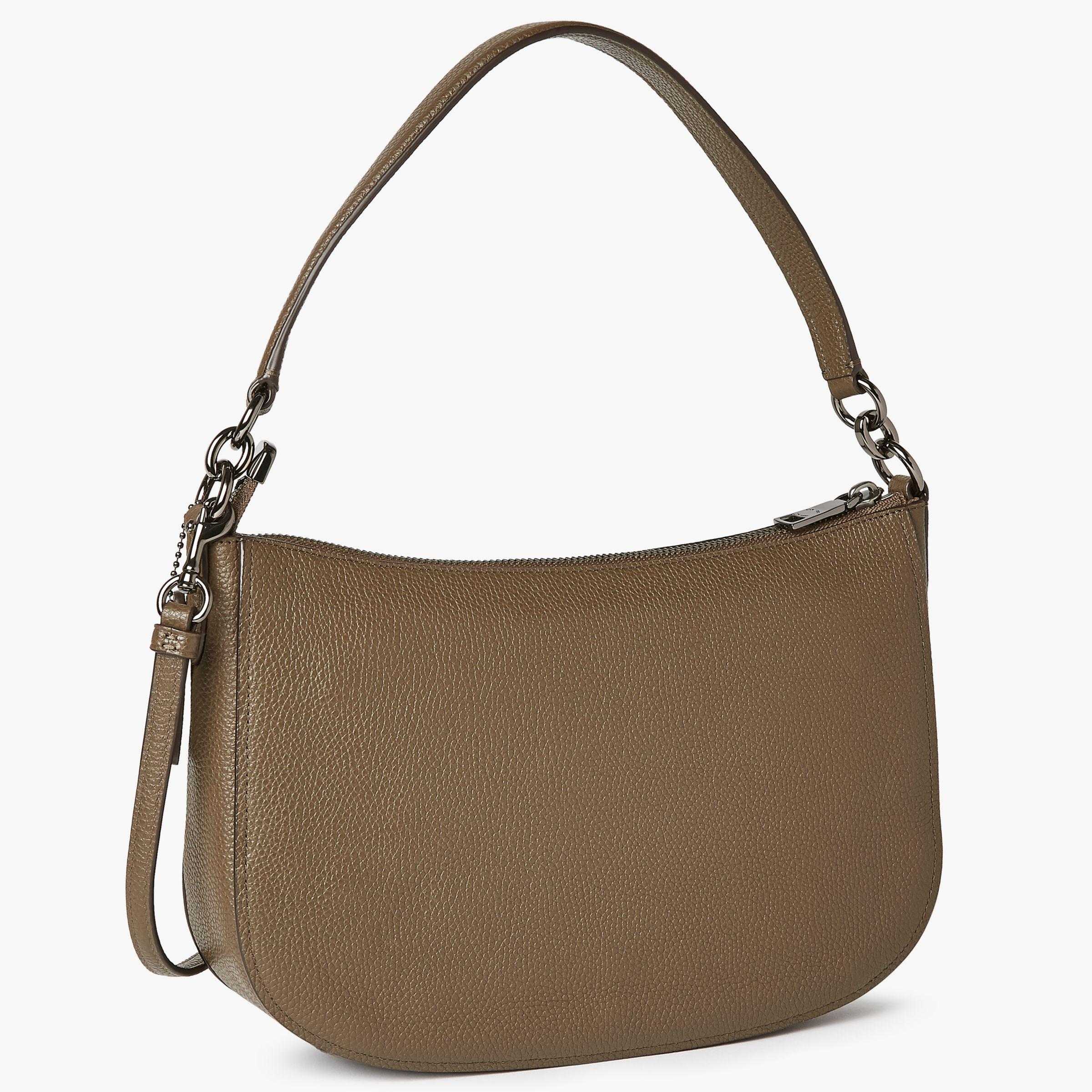 Inexpensive Coach Prairie Satchel John Lewis Sale 3b1e1 4a78a Swagger 20 In Pebbled Leather Peach