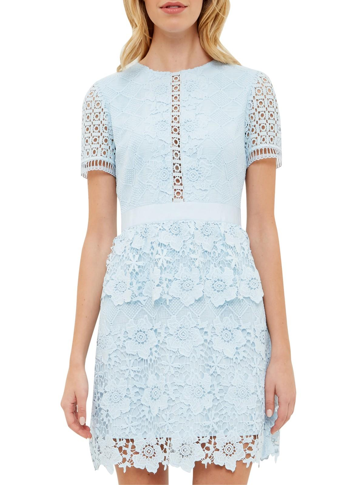 Ted Baker Layered Lace Dress In Blue Lyst