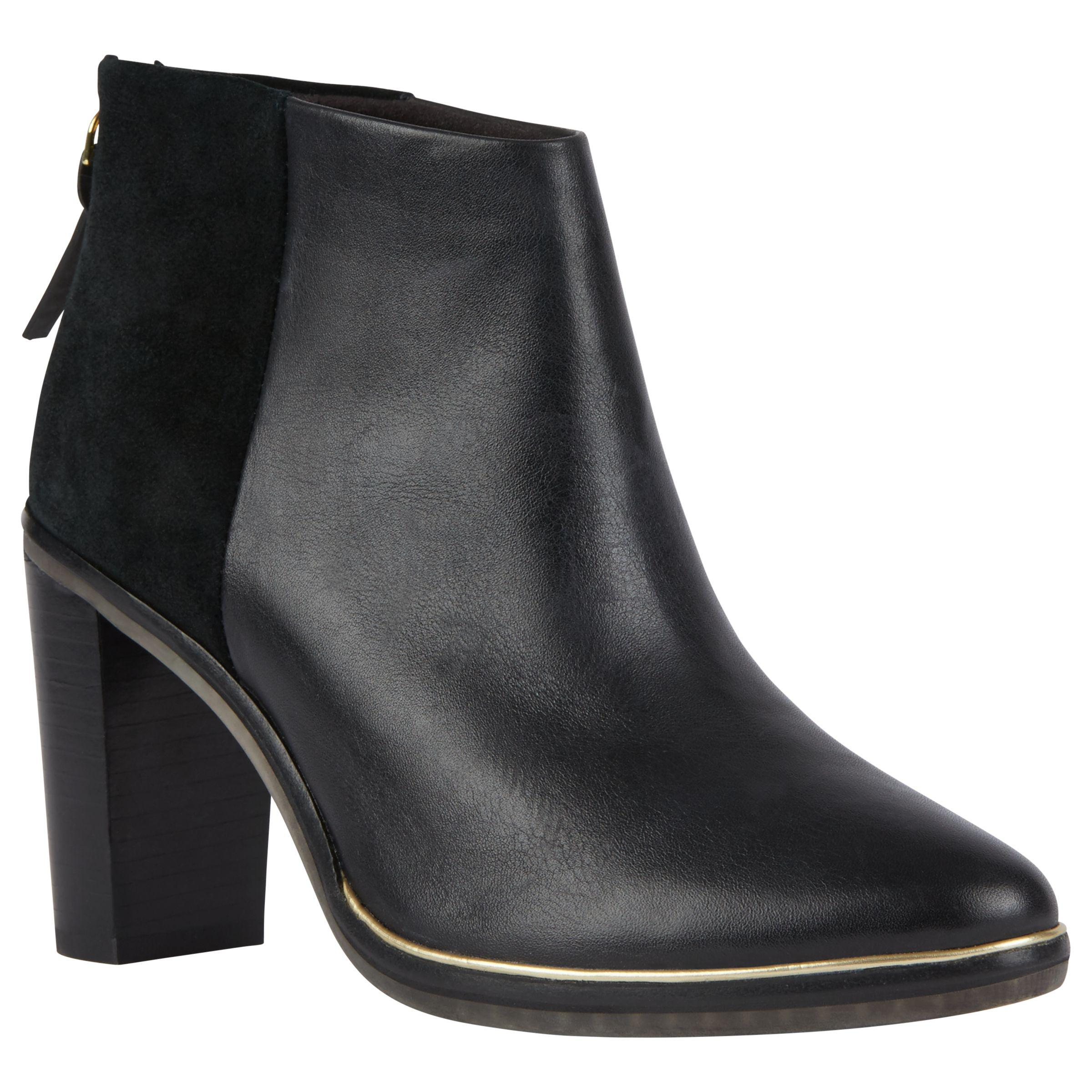 Ted Baker Denim Azaila Block Heeled Ankle Boots in Black