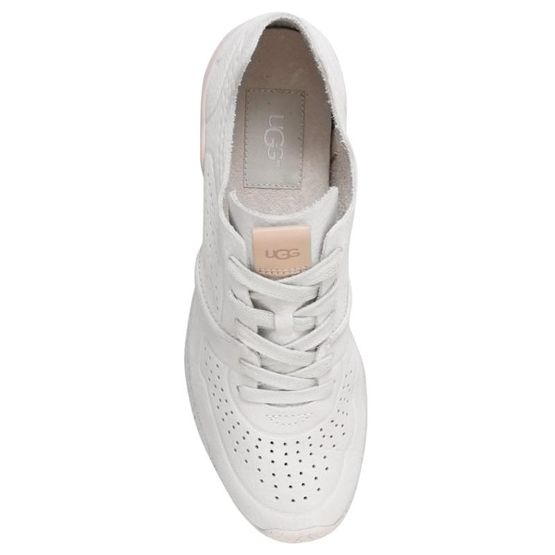UGG Leather Tye Lace Up Trainers in White for Men