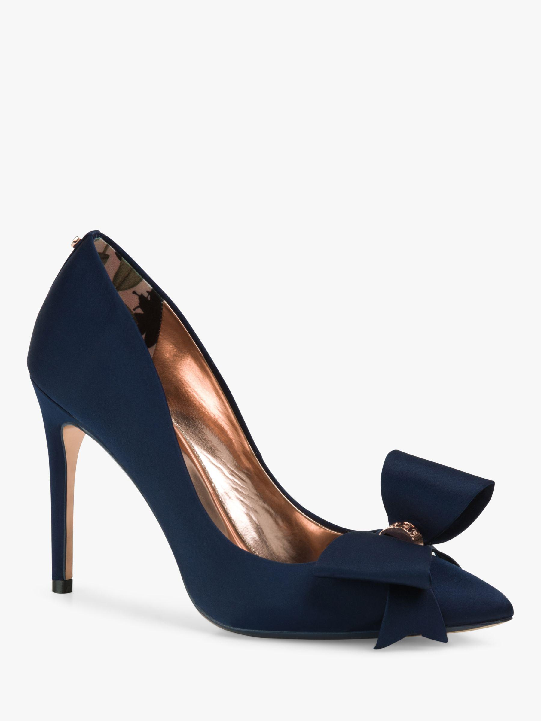 7bf8a45a8 Ted Baker Asellys Stiletto Heel Bow Court Shoes in Blue - Lyst