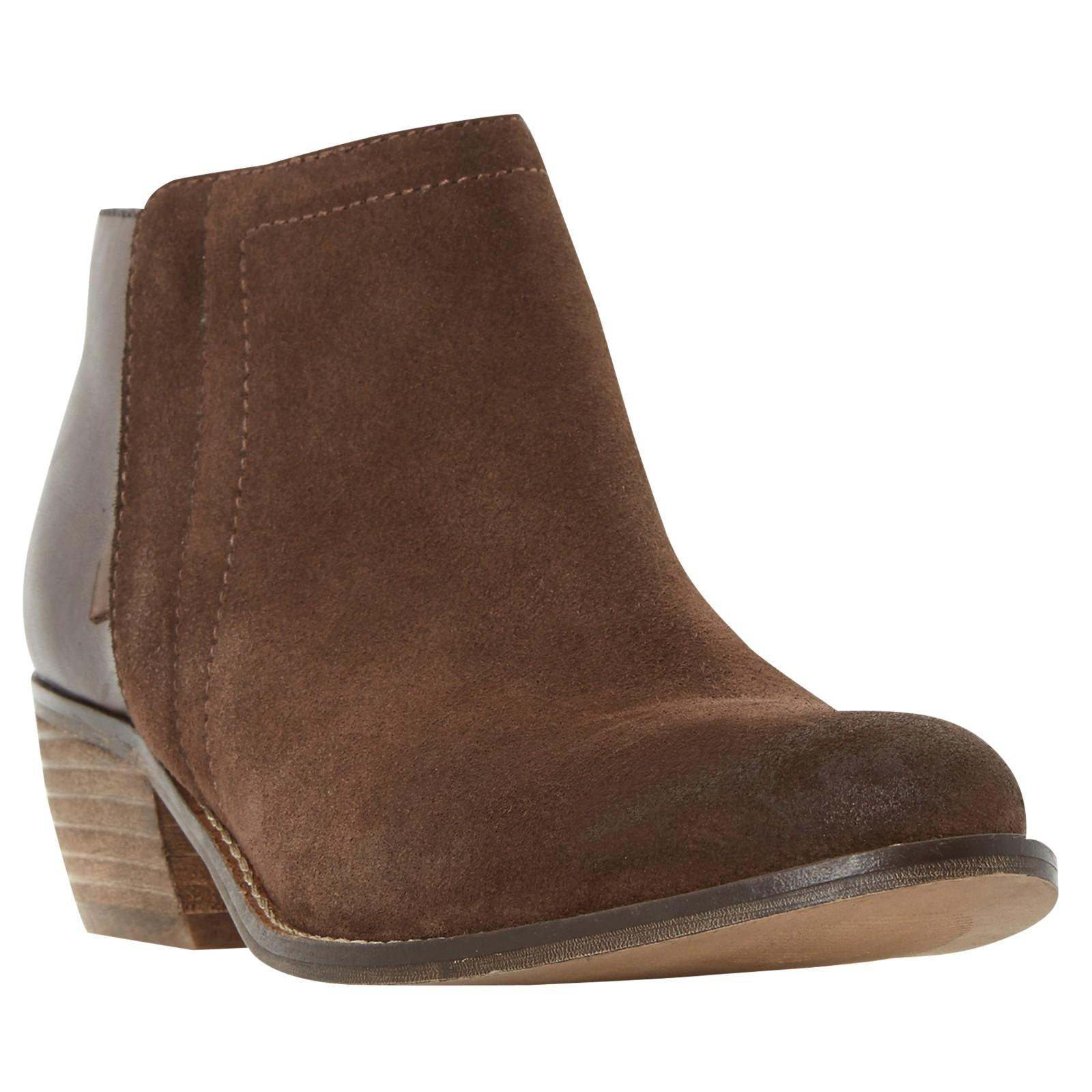 Dune Penela Leather And Suede Ankle Boots in Brown-Leather (Brown)