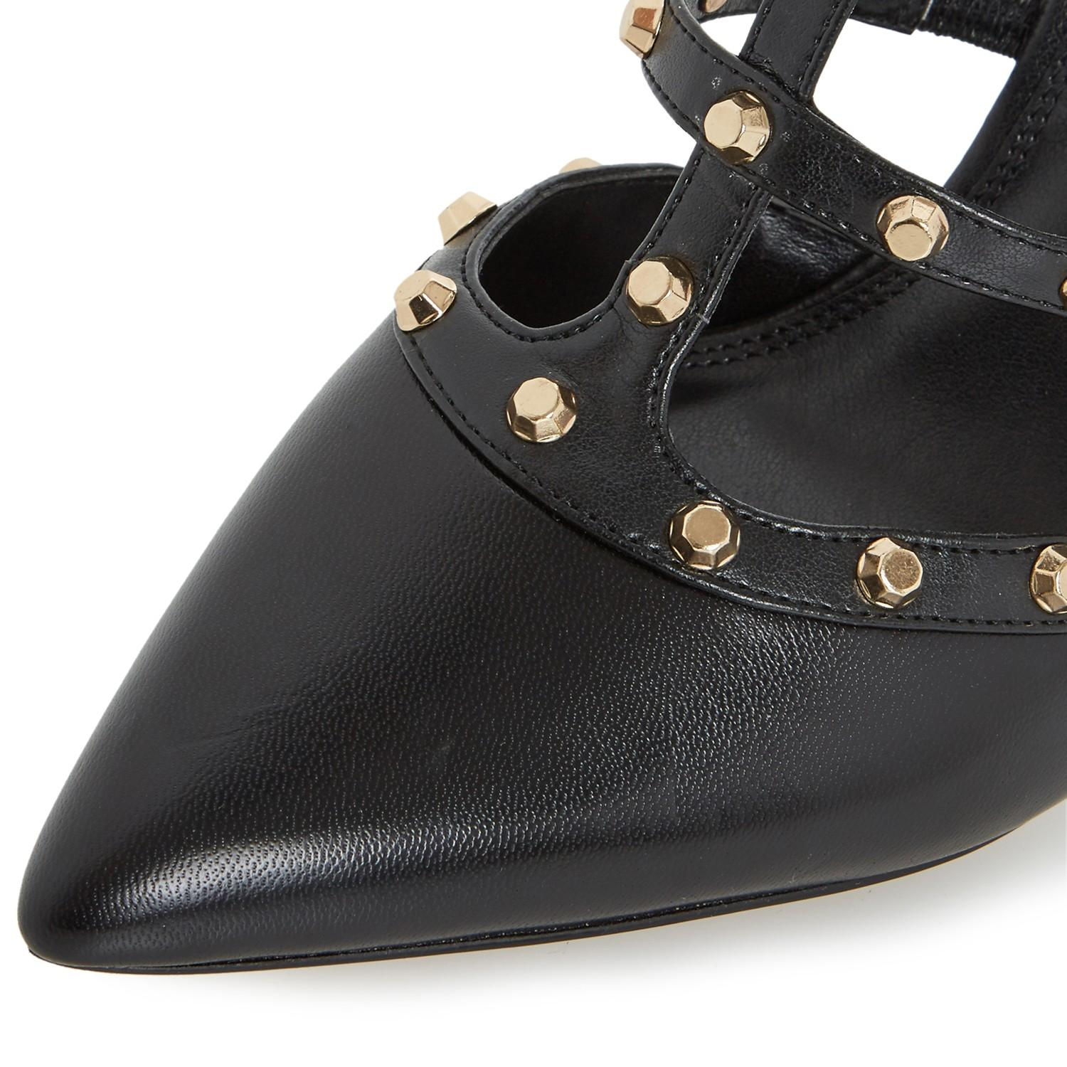 dafbc0f98e Dune Daenerys Studded Cut Out Court Shoes in Black - Lyst