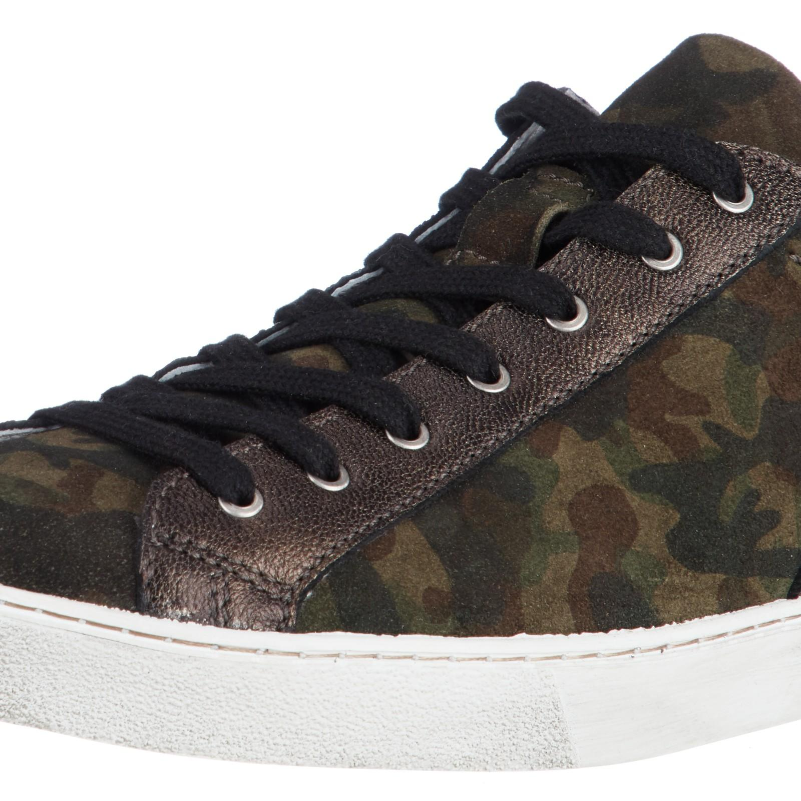John Lewis Suede Elexis Trainers in Green for Men
