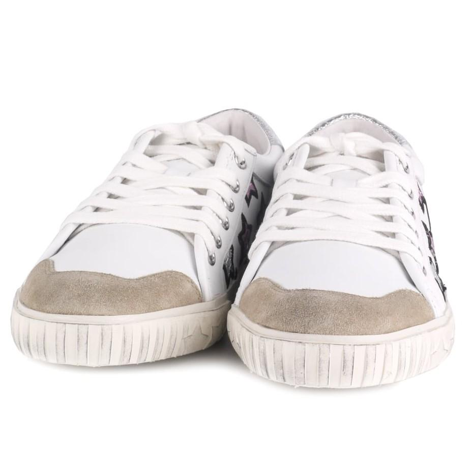 Ash Leather Majestic Lace Up Trainers