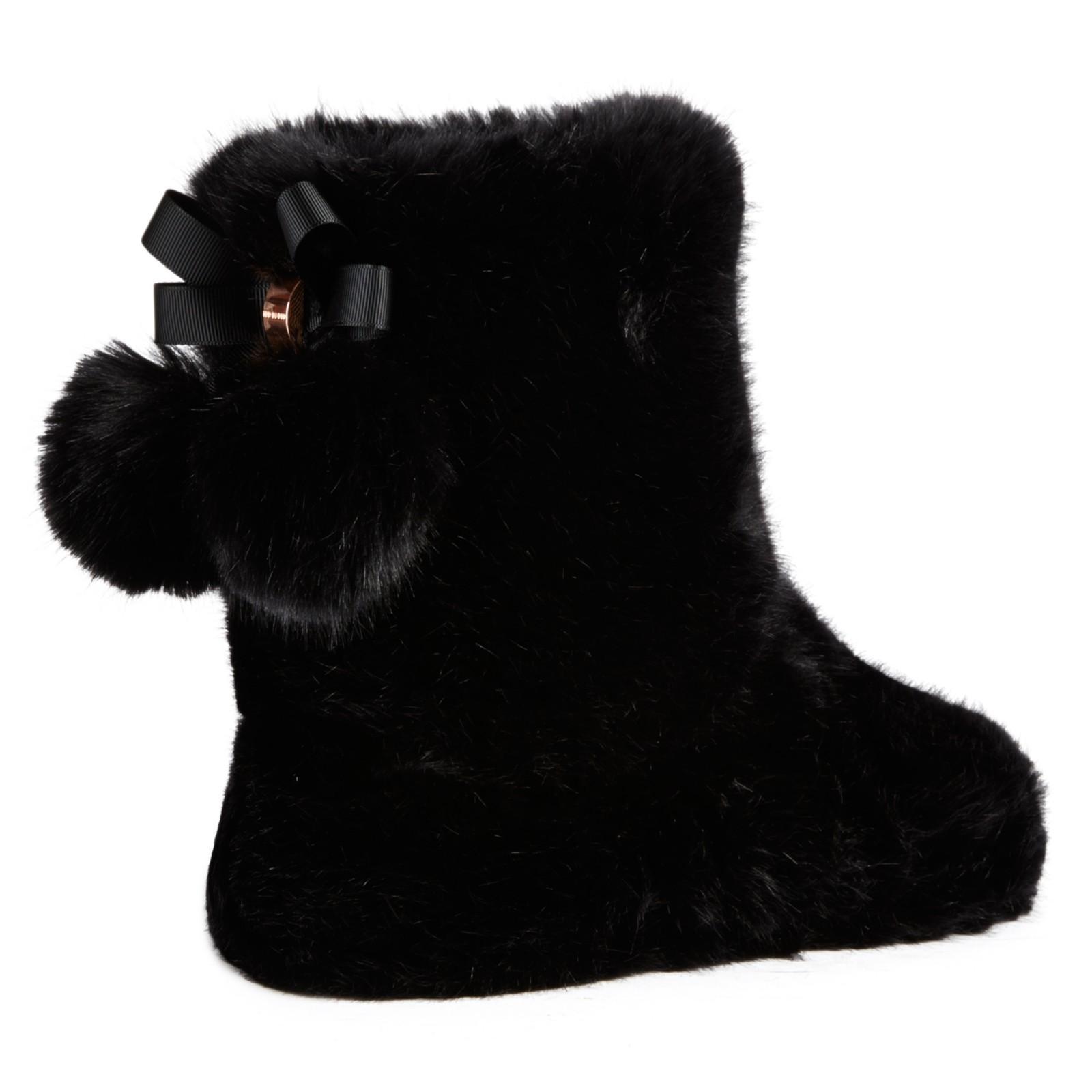 Ted Baker Hamond Boot Slippers in Black