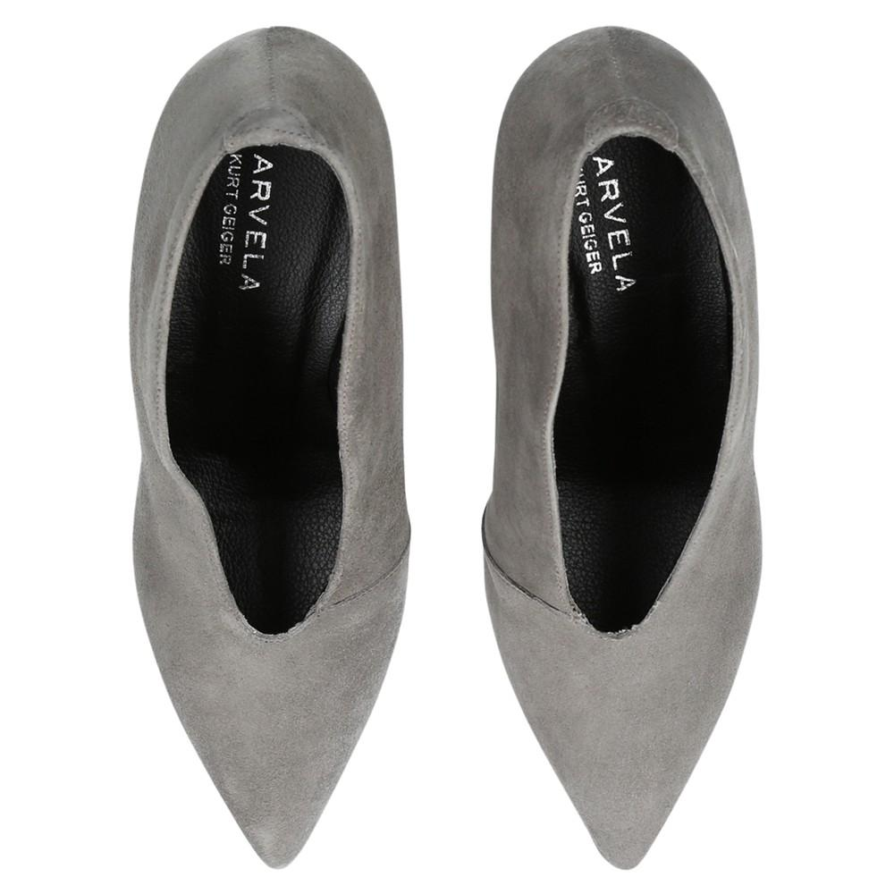 Carvela Kurt Geiger Denim Andrew Cone Heeled Ankle Boots in Grey (Grey)