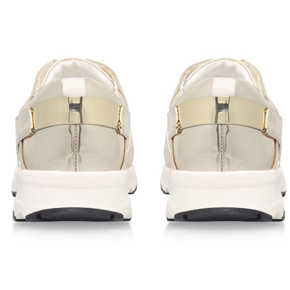 Carvela Kurt Geiger Synthetic Lacrosse Lace Up Trainers in Gold (Metallic)