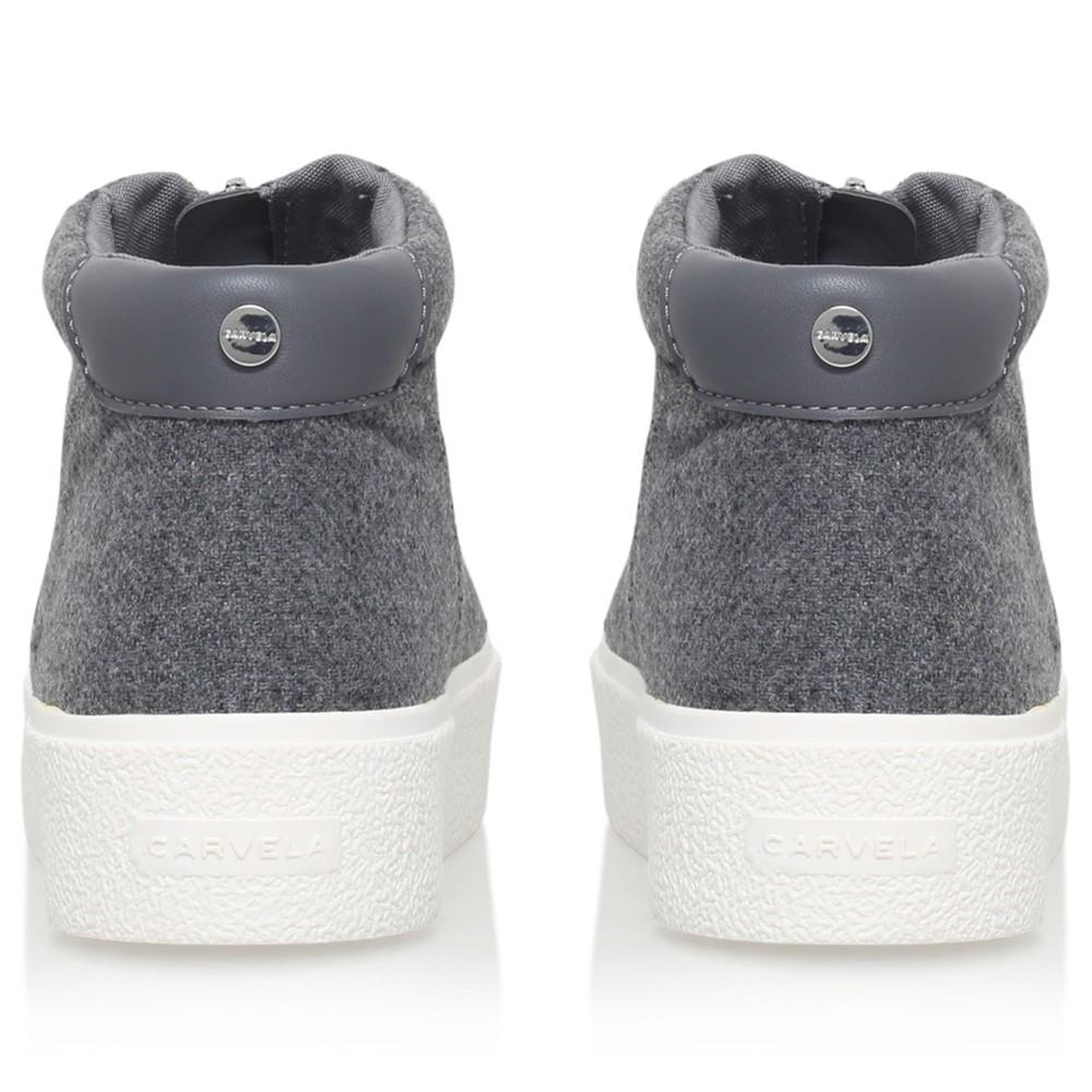 Carvela Kurt Geiger Rubber Little Zip Trainers in Grey (Grey)
